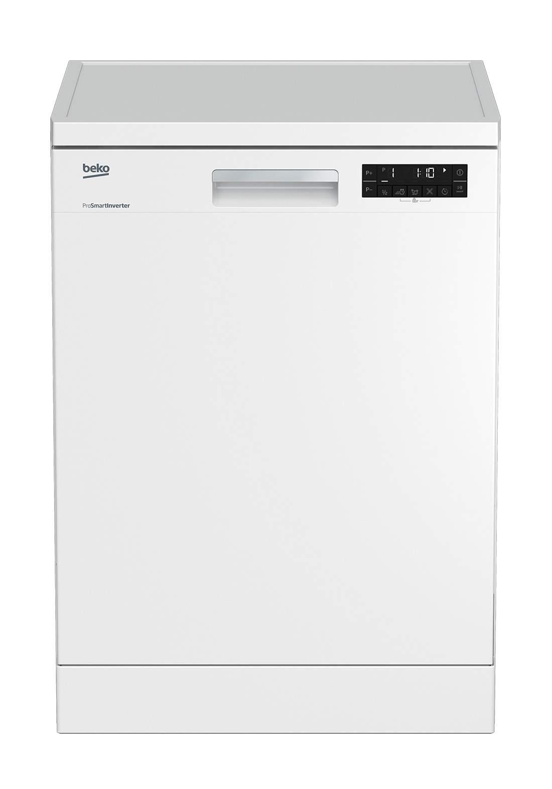 Beko DFN 28422W Dishwasher 8 Programs Capacity Of 14 Sets - White  غسالة صحون
