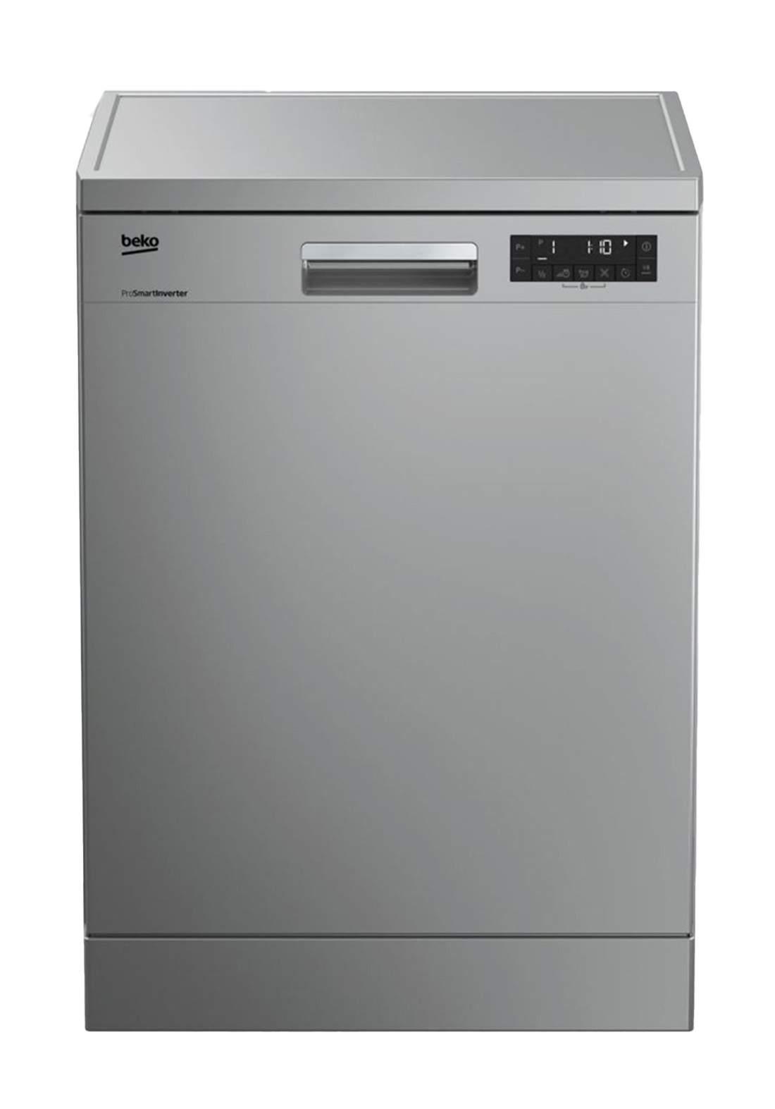 Beko DFN 28422S Dishwasher 8 Programs Capacity Of 14 Sets - Gray  غسالة صحون