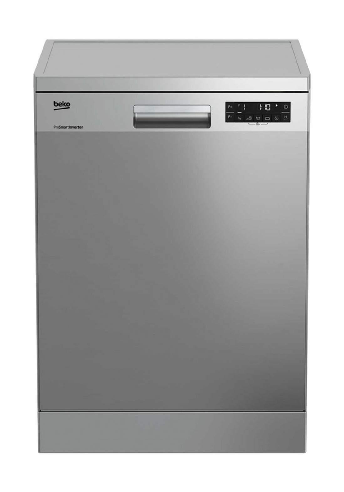 Beko DFN 28424X Dishwasher 8 Programs Capacity Of 14 Sets - Gray  غسالة صحون