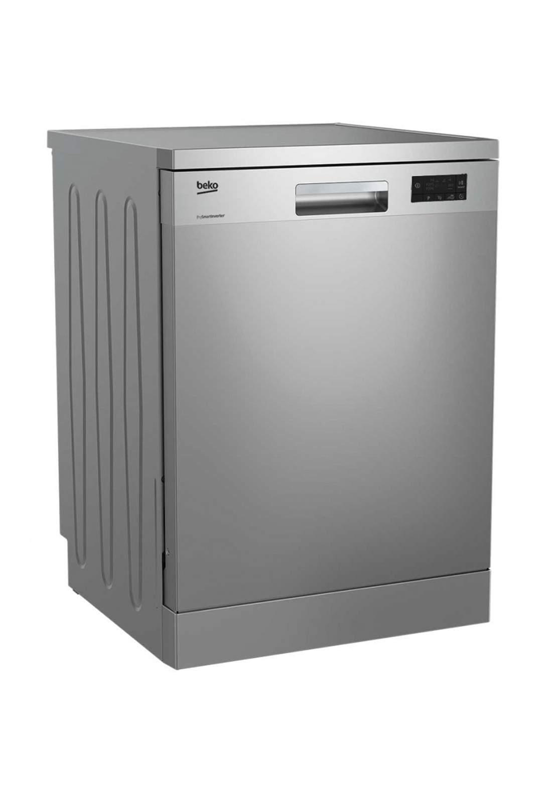 Beko DFN 16410 X Dishwasher 6 Programs Capacity Of 14 Sets - Gray  غسالة صحون