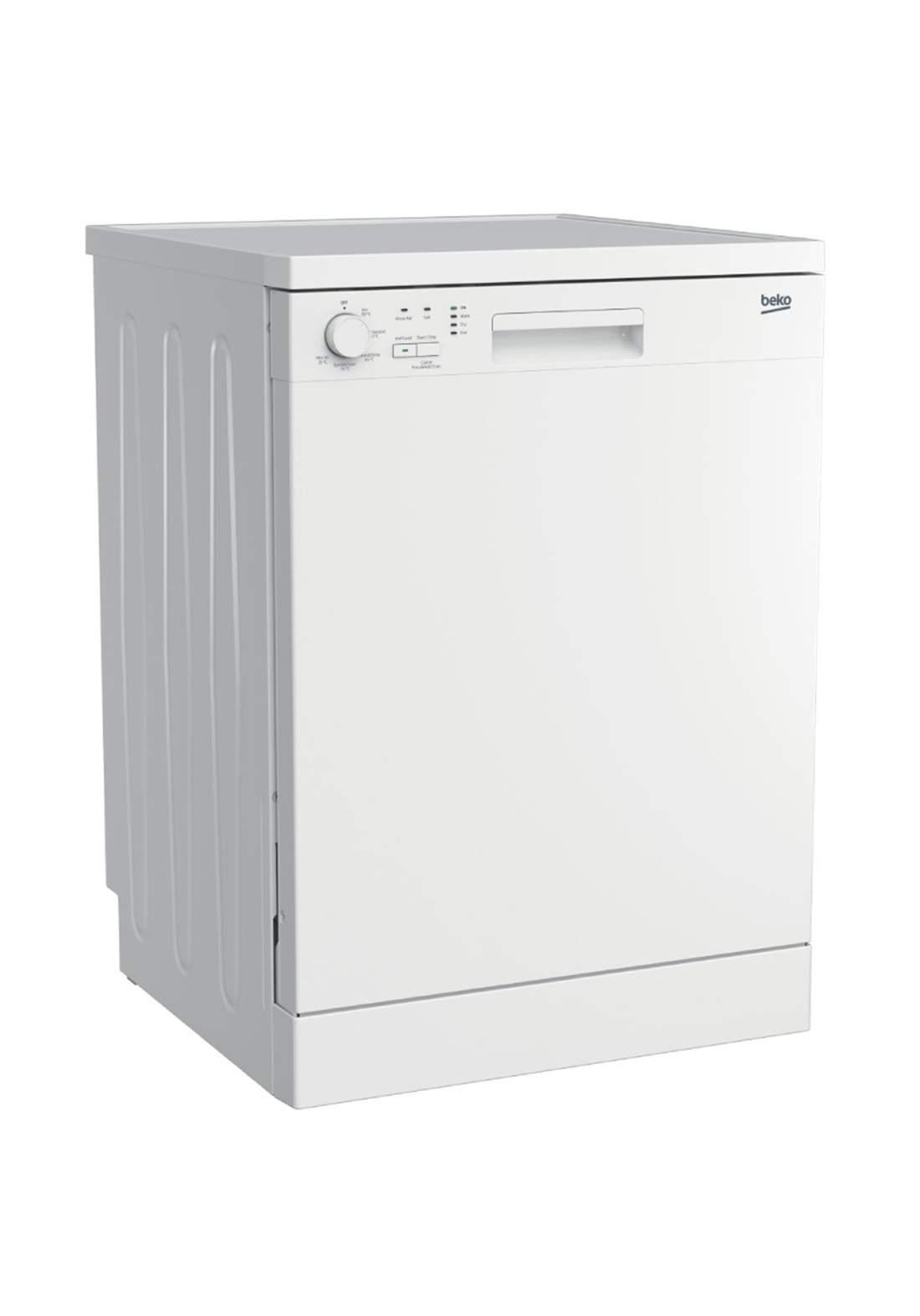 Beko DFN 05210 W Dishwasher 5 Programs Capacity Of 12 Sets - White غسالة صحون