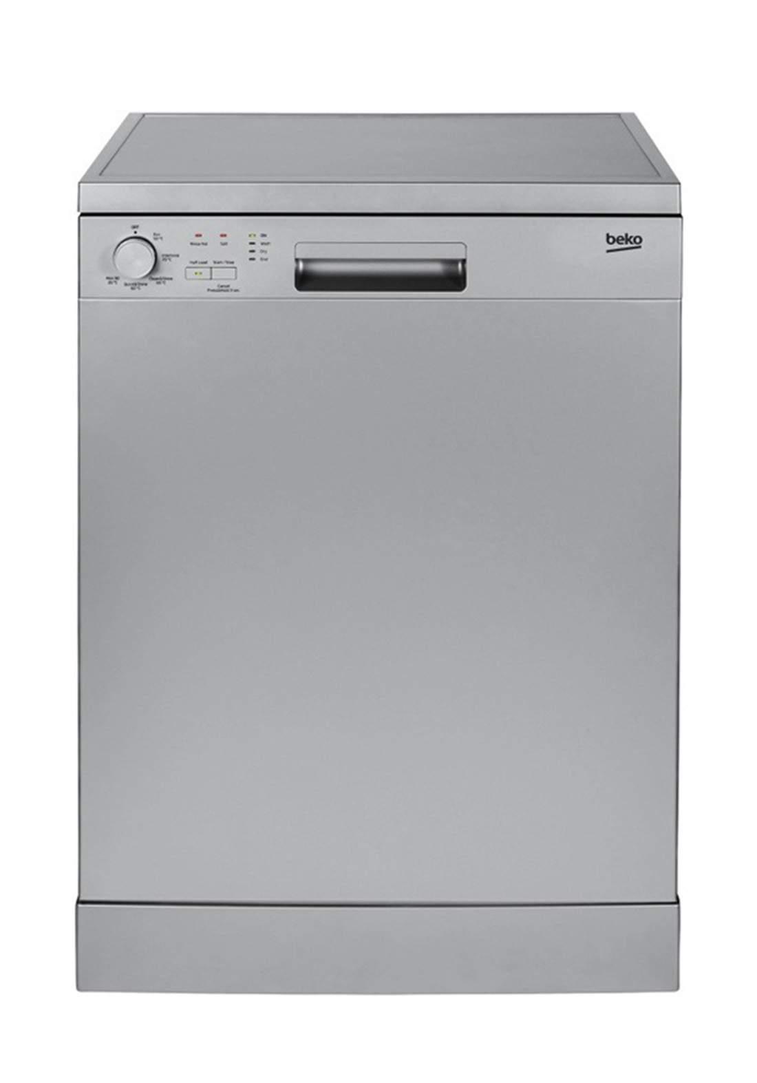 Beko DFN 05210 S Dishwasher 5 Programs Capacity Of 12 Sets - Silver غسالة صحون