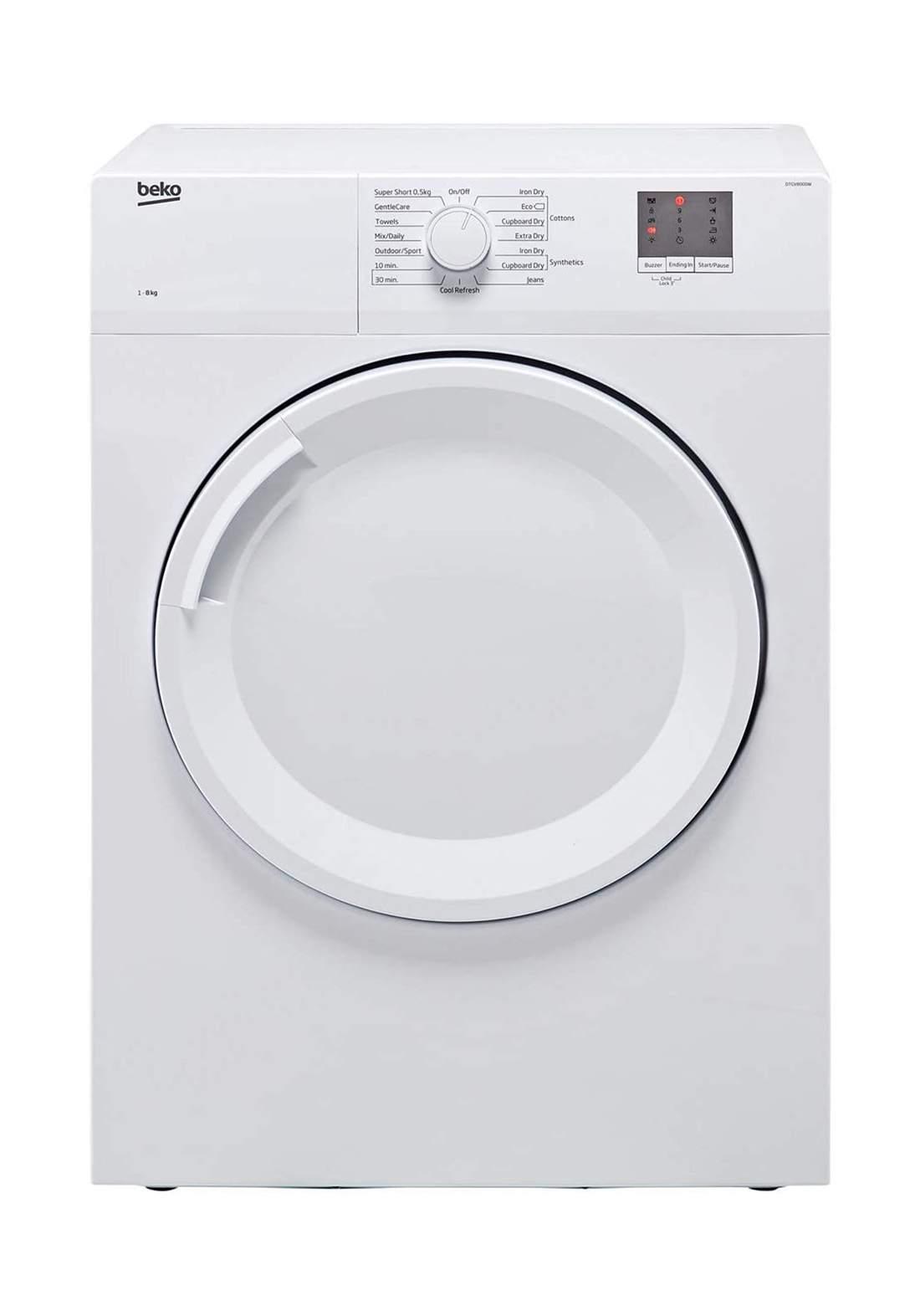 Beko DTGV8000W 8kg Vented Tumble Dryer - White مجفف الملابس