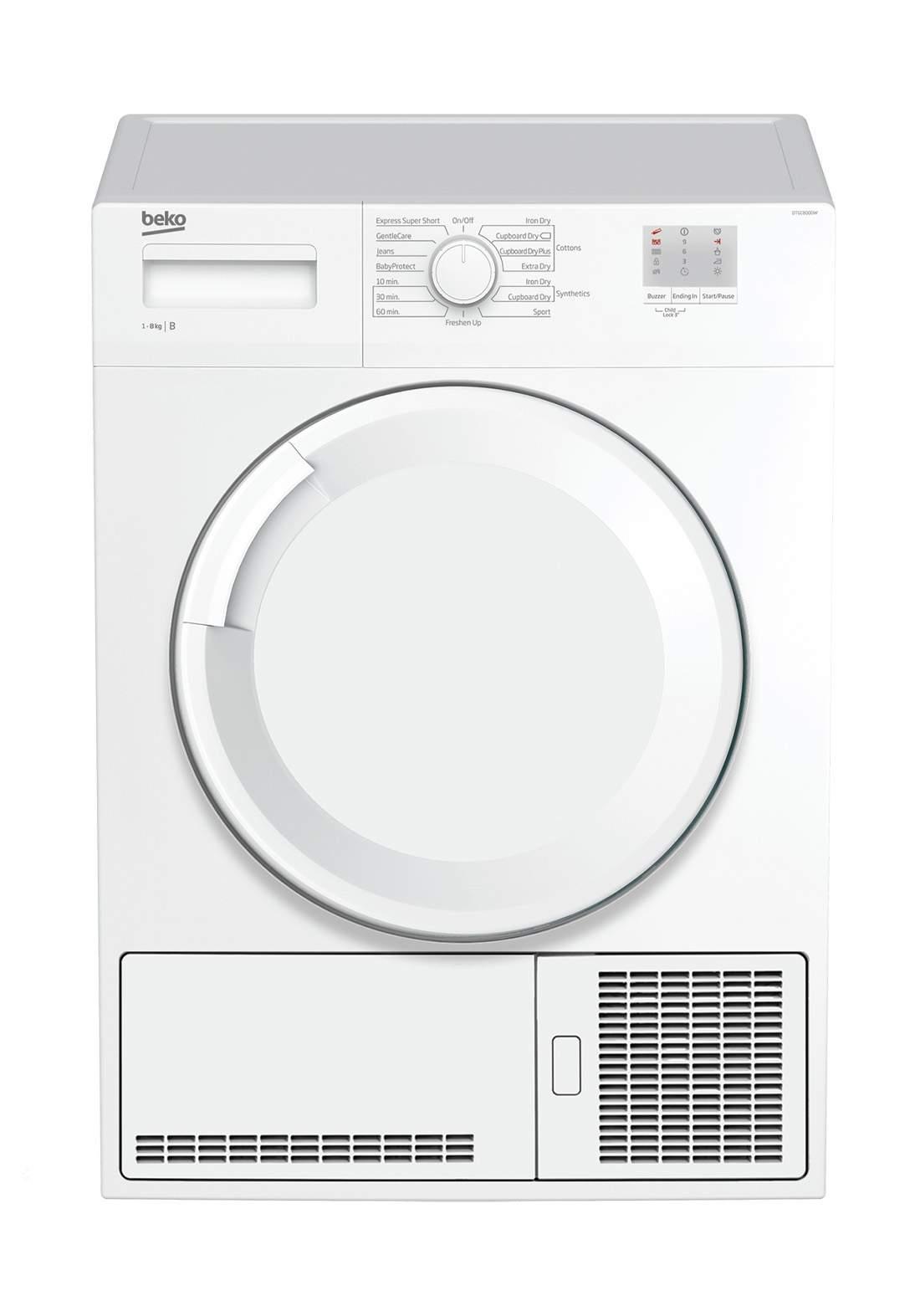 Beko  DTGC 8000 W 8kg Vented Tumble Dryer - White مجفف الملابس