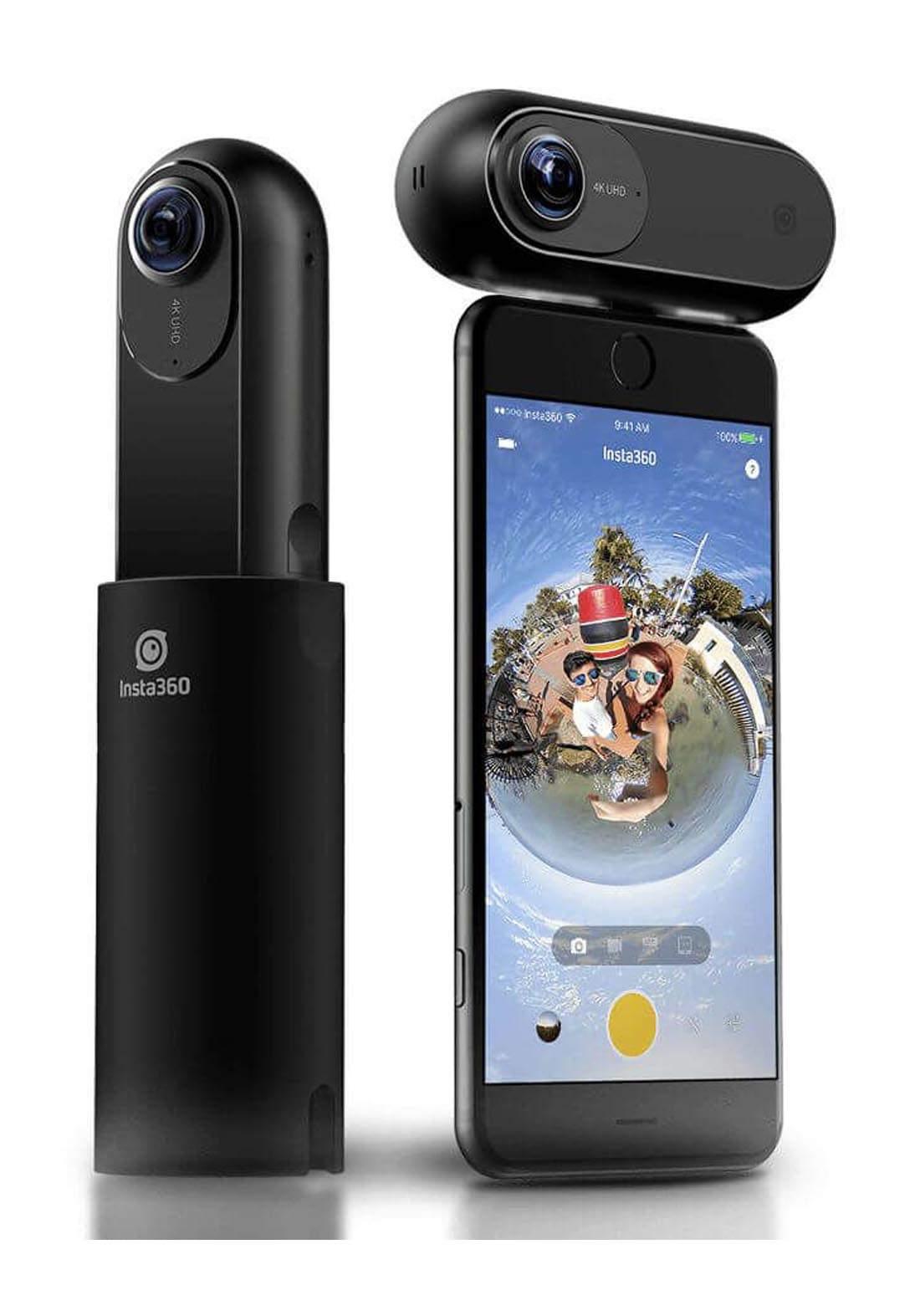 Insta360 ONE 360 Degree Panoramic Video Camera - Black  عدسة كاميرا للهاتف