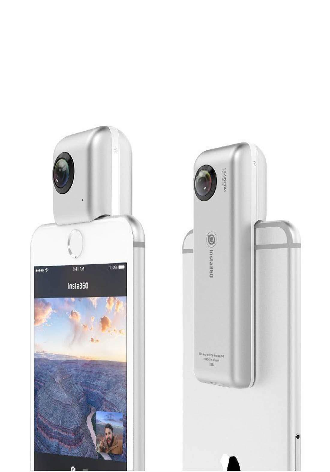 Insta360 Nano Panoramic Video Camera - White  عدسة كاميرا للهاتف