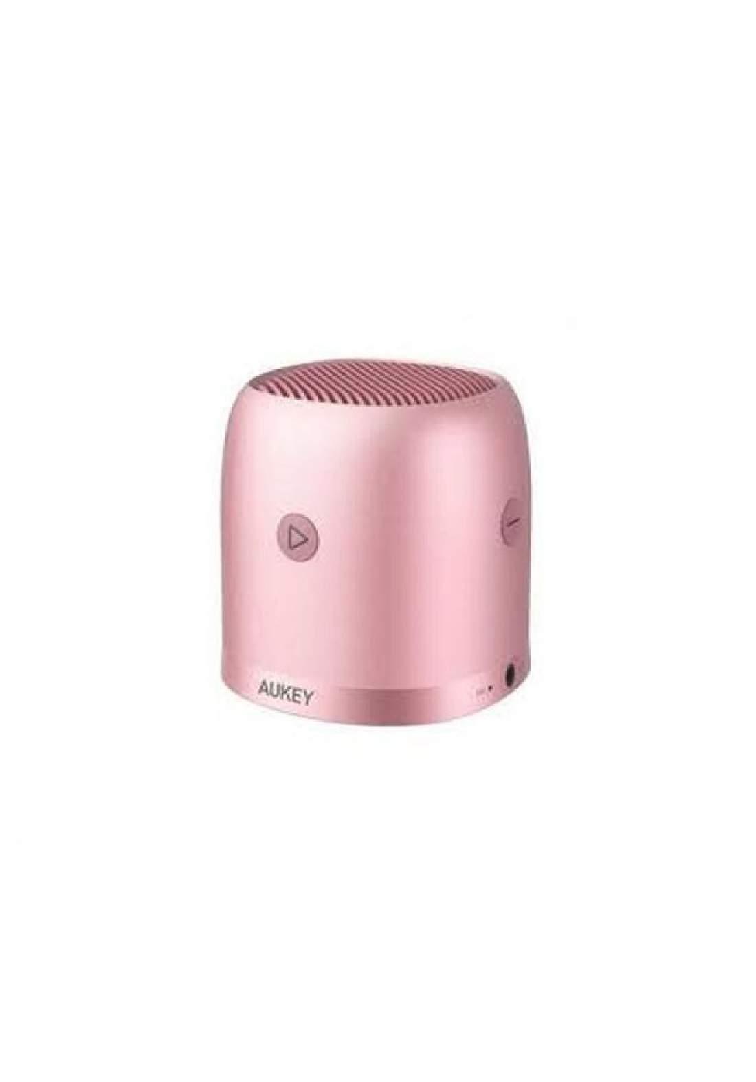 Aukey SK-M31 Wireless Mini Bluetooth Speaker with Enhanced Bass-Pink (1495) سبيكر