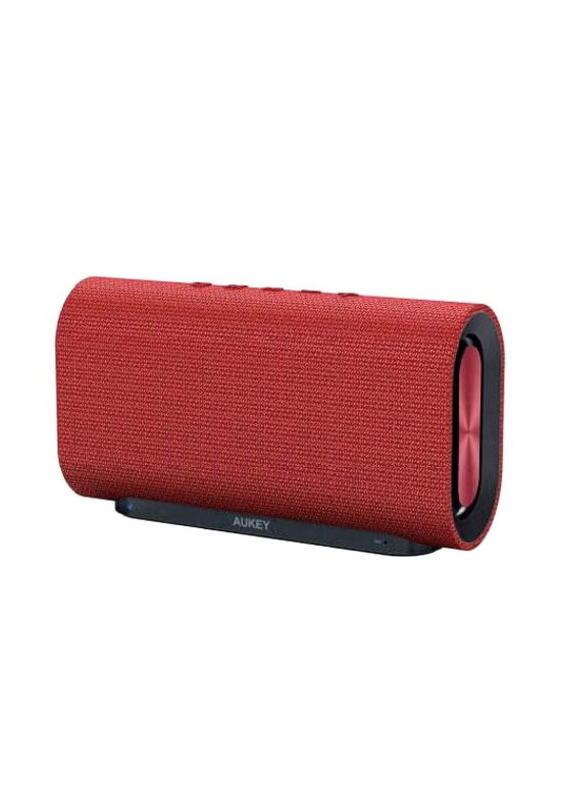 Aukey SK-M30 Eclipse Bluetooth Speaker Enhanced Bass -Red (1388) سبيكر