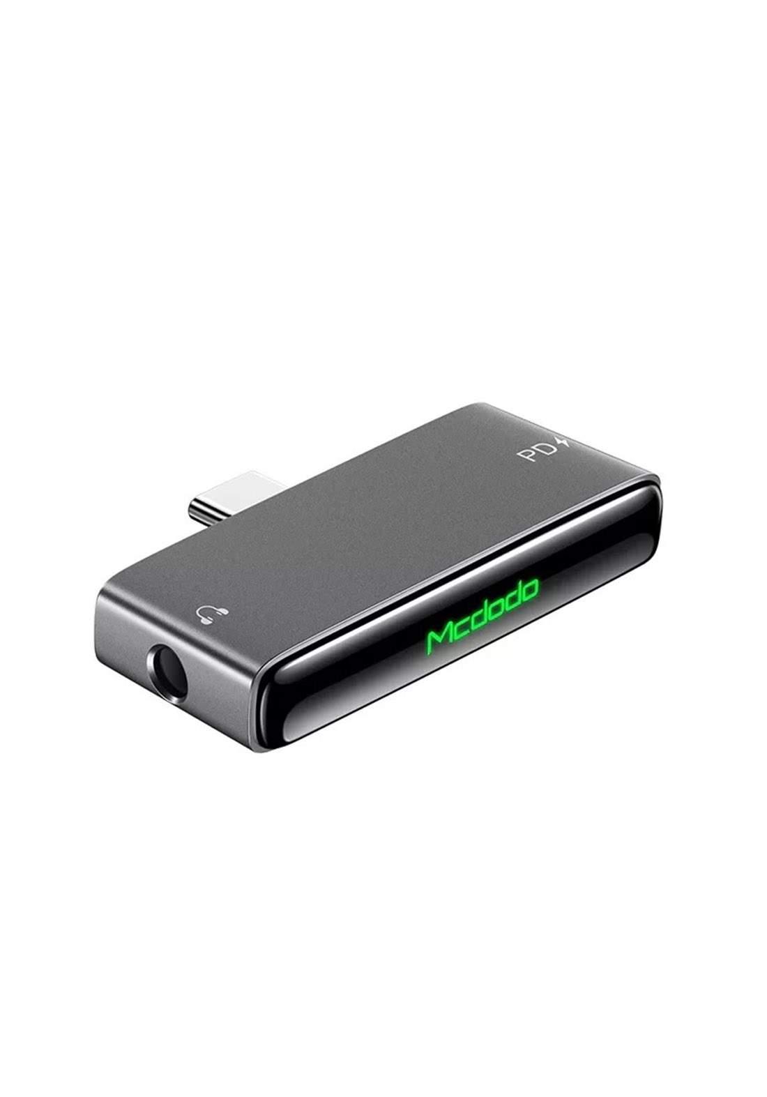 Mcdodo CA07660 Type-C Audio Adapter 60 W - Gray تحويلة