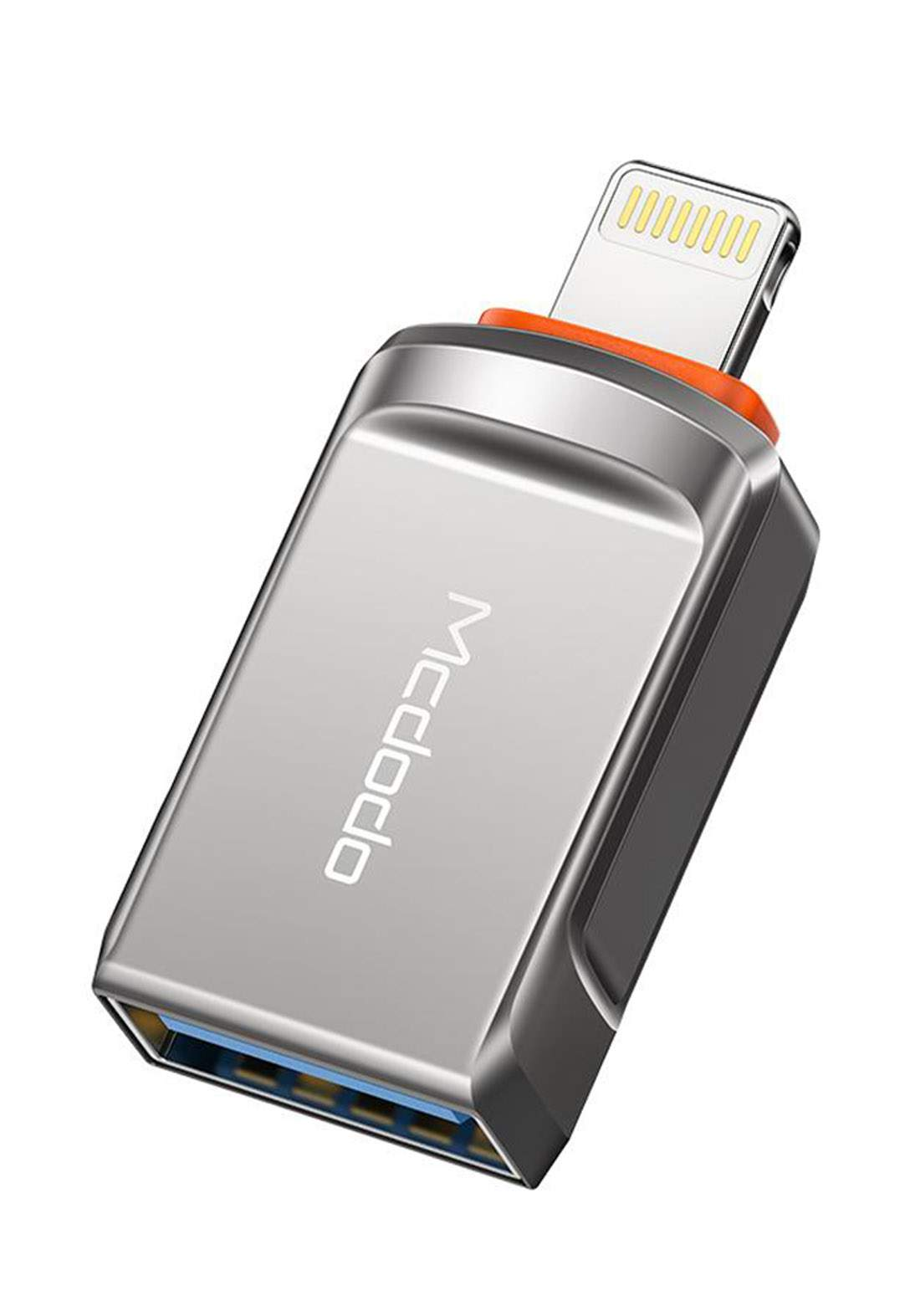 Mcdodo OT08600 OTG USB-A 3.0 to Lightning Adapter - Gray تحويلة