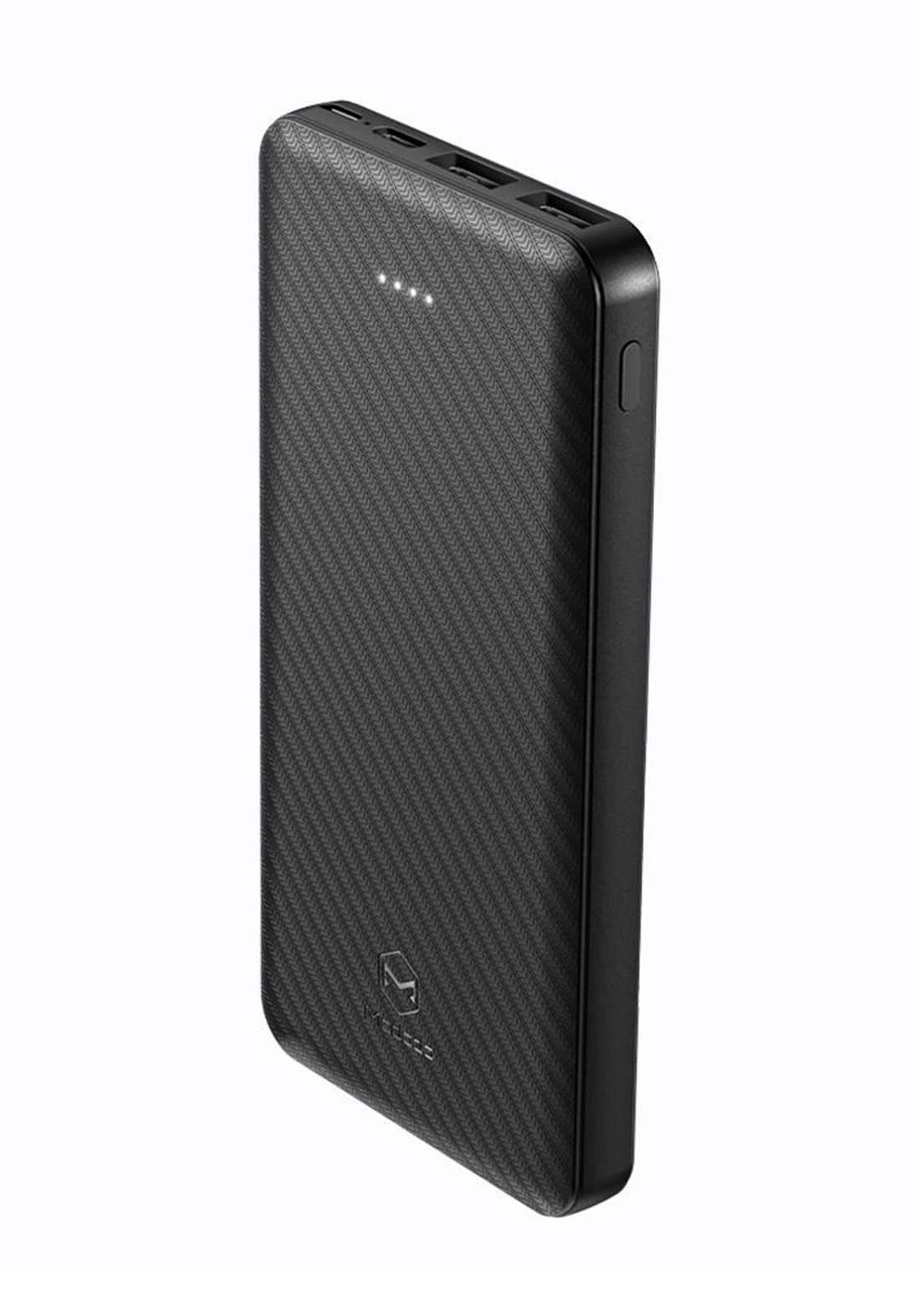 (3223)Mcdodo MC07351 Dual USB Power Bank 10000mAh - Black شاحن  محمول