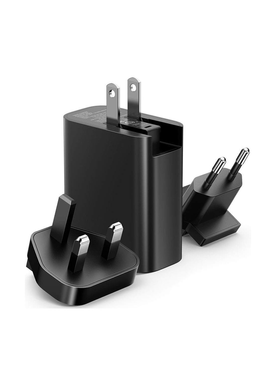 (4171)Mcdodo CH05601 Dual Ports USB Wall Charger (EU/UK/US) Plug - Black  شاحن