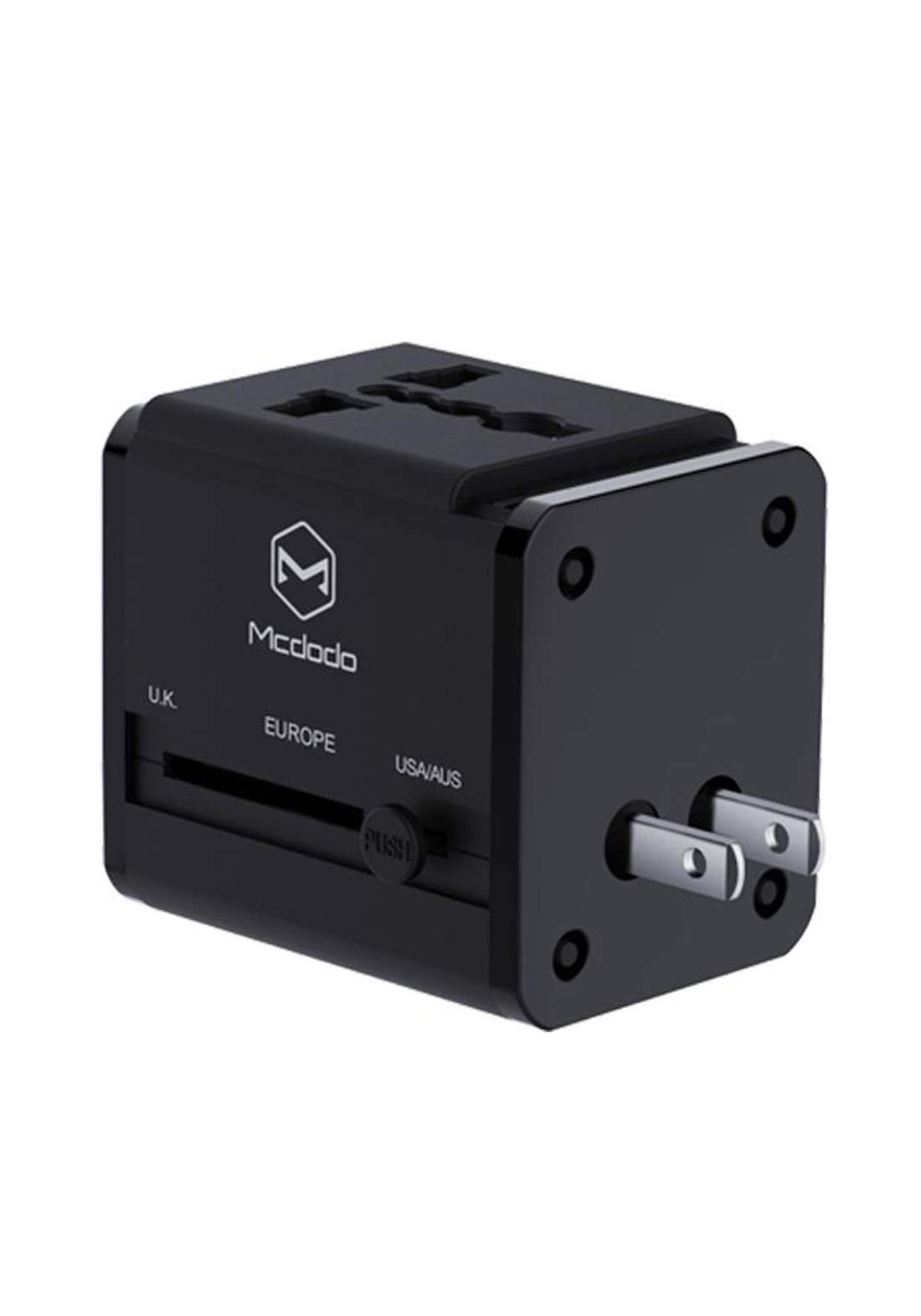 (3102)Mcdodo CP02020 Universal Travel Charger Adapter - Black شاحن