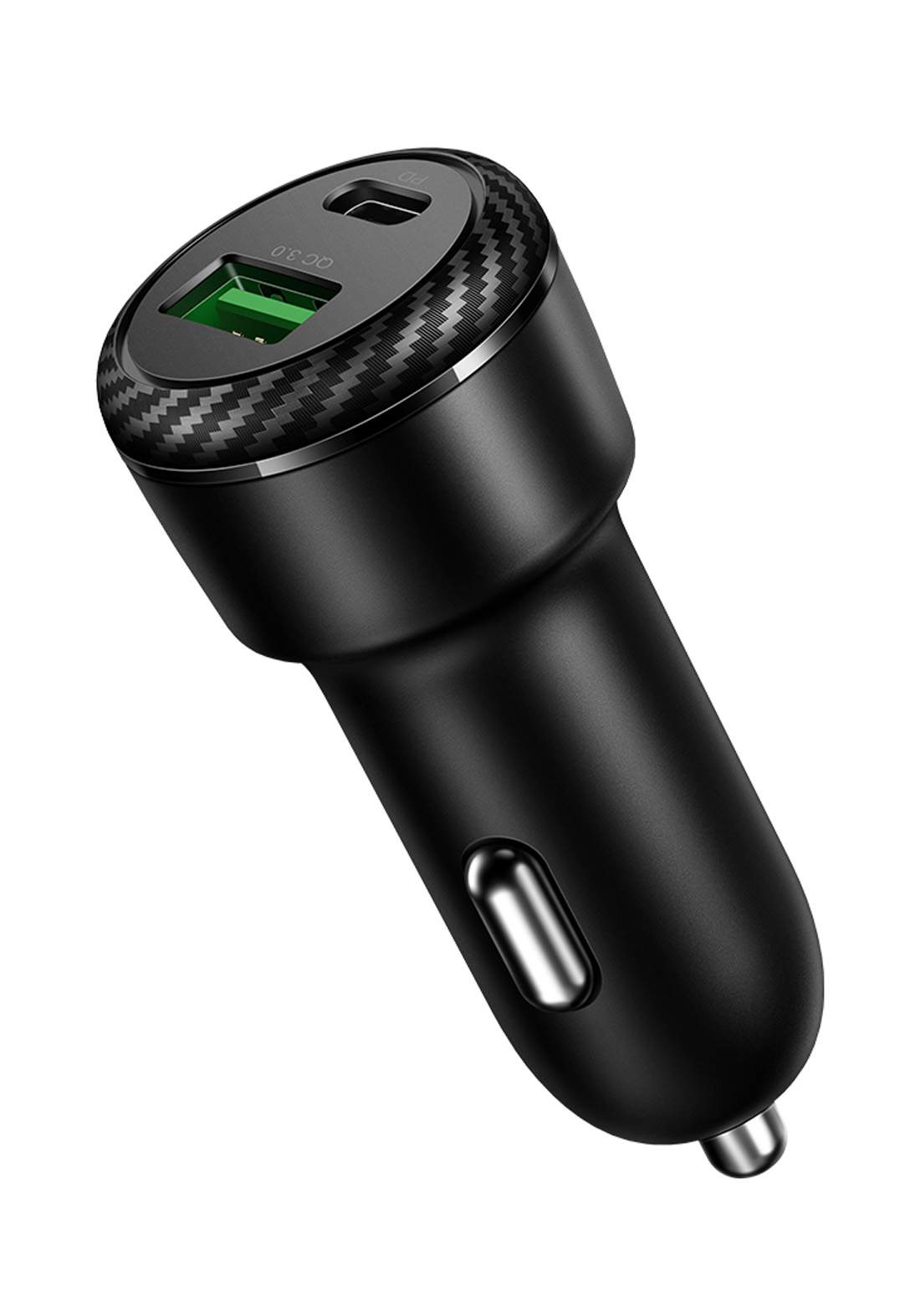 (2472)Mcdodo CC05970 Dual Port QC3.0 and Type-C PD Car Phone Charger 36W - Black شاحن موبايل  للسيارة