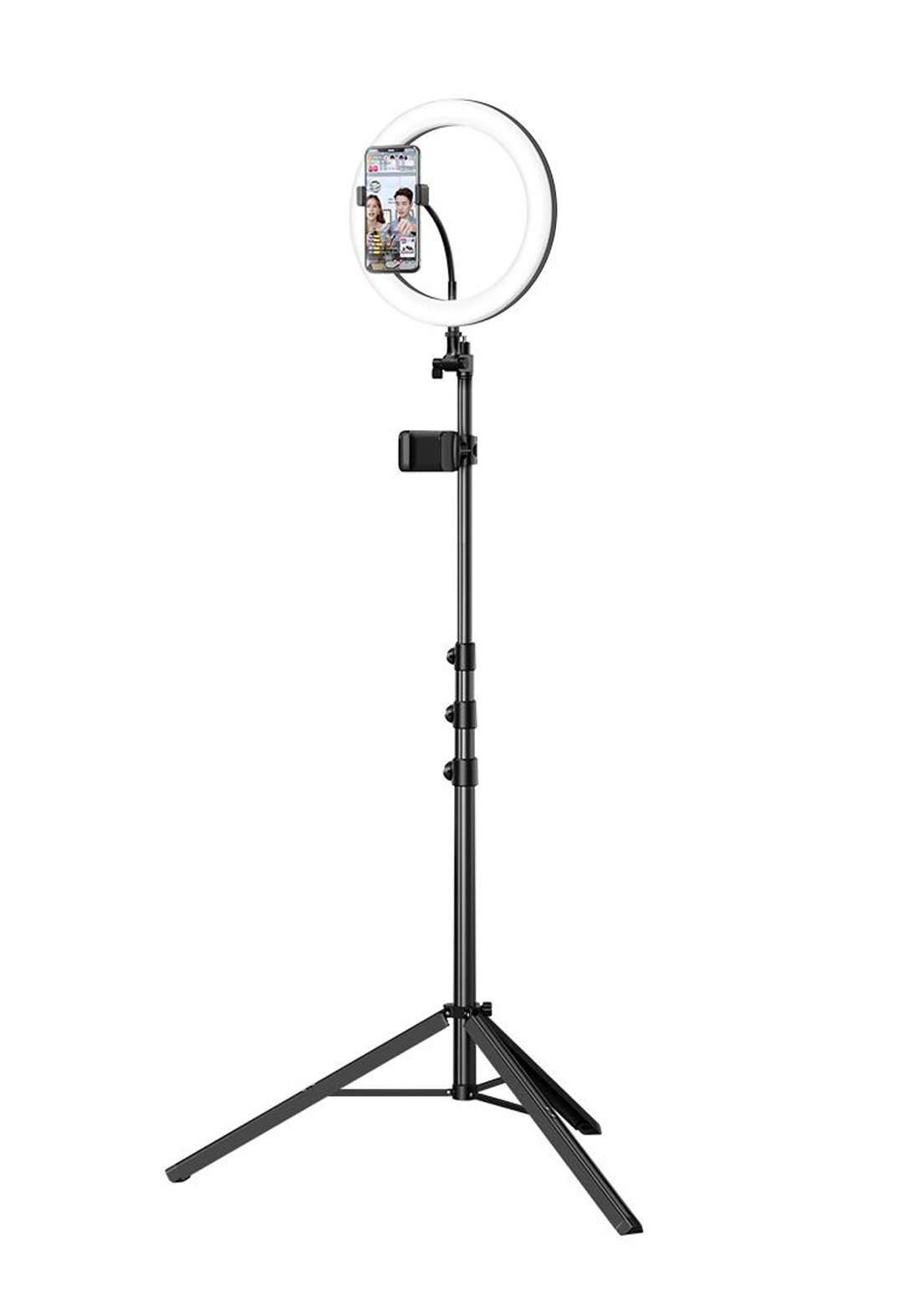 (2595)Mcdodo TB07970 Mobile Phone Selfie Ring Light with Tripod Stand مصباح حلقي للتصوير  مع حامل