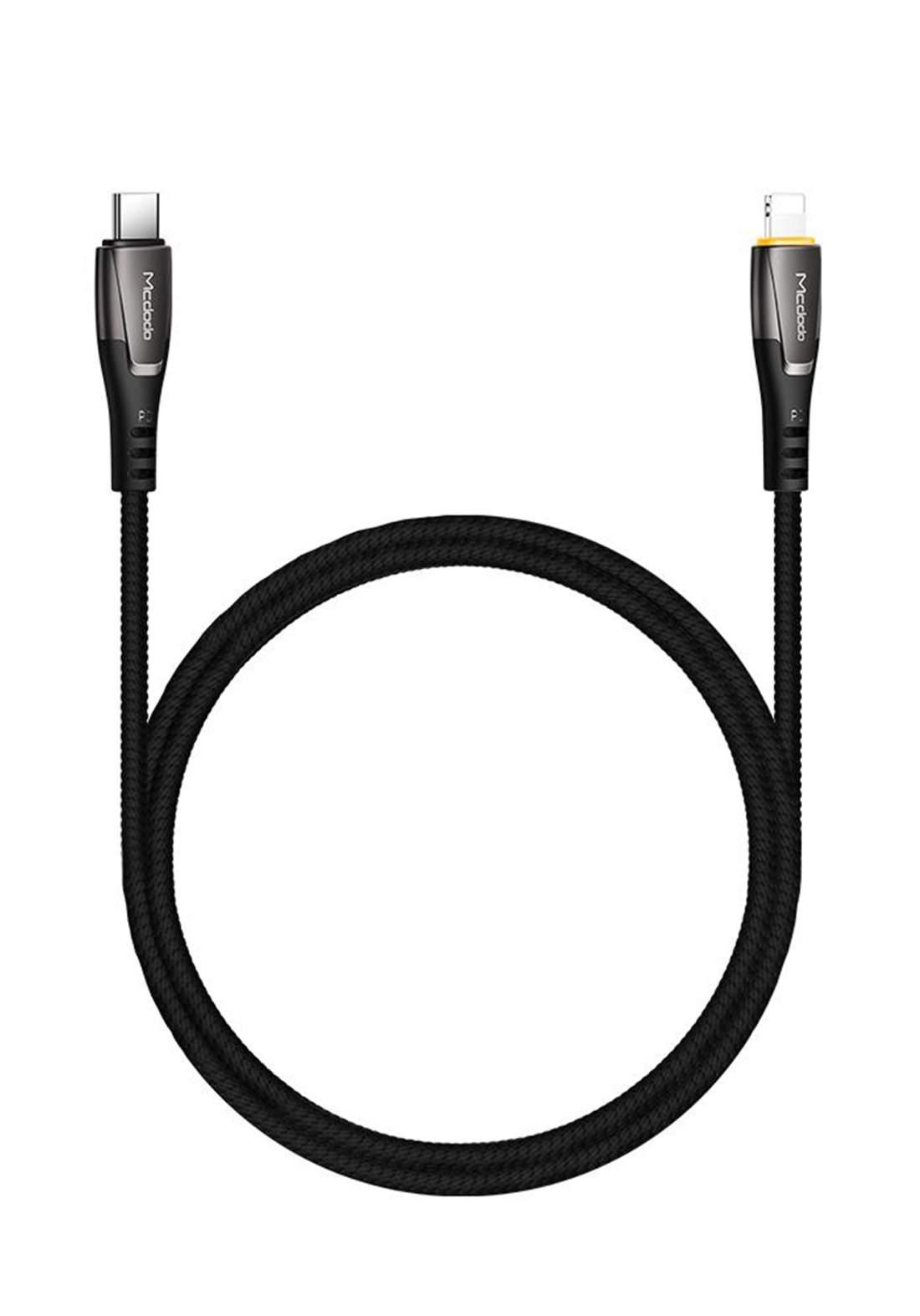 (3136)Mcdodo CA07651 USB-C to Lightning Cable 1.8 m - Blue كابل