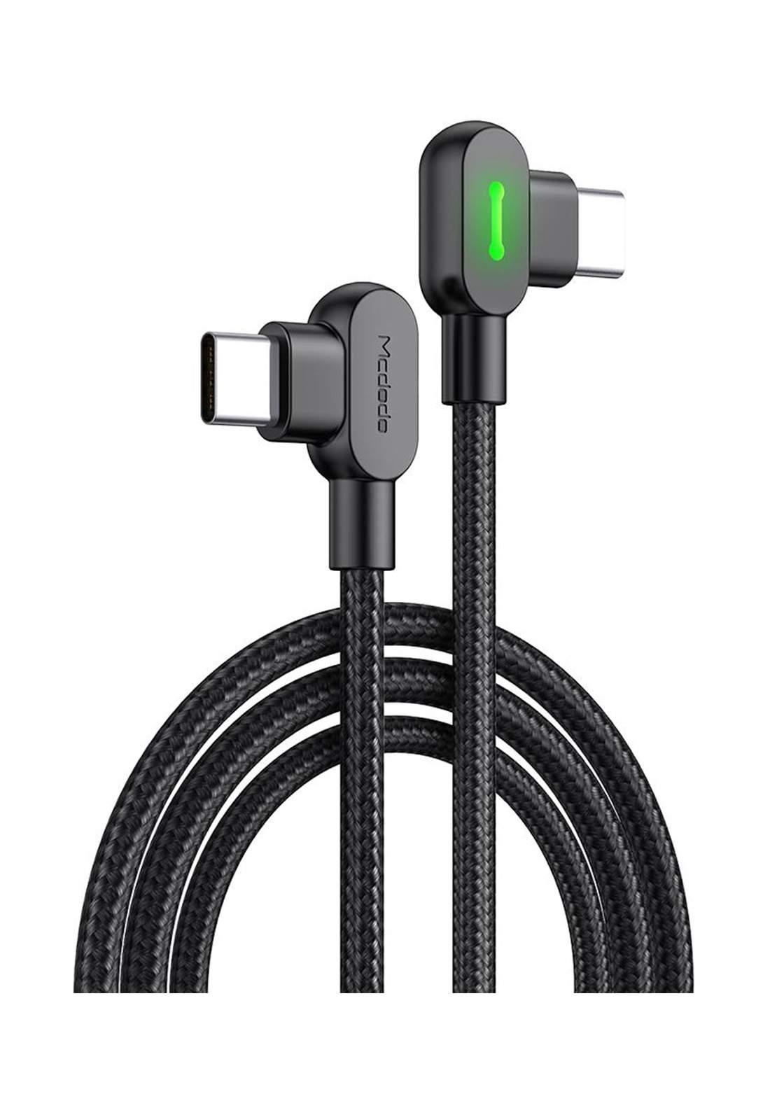 (3394)Mcdodo CA08080 USB Type-C to USB Type-C Cable 1.5 m - Black كابل