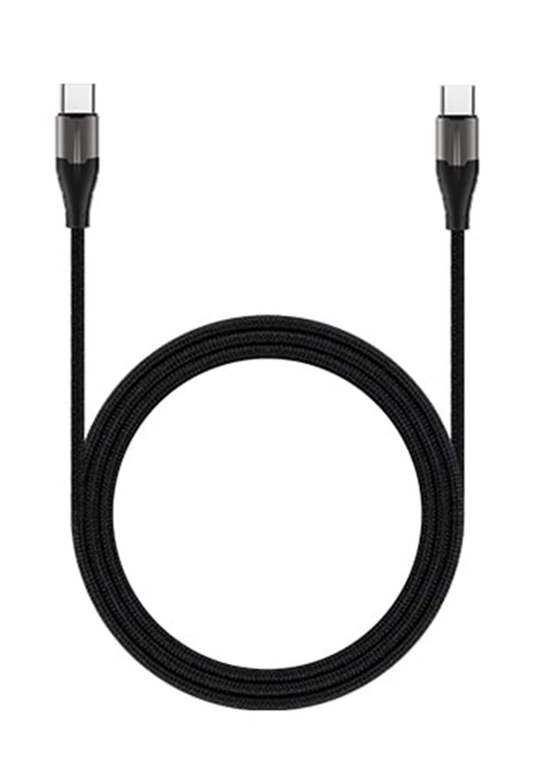 (4200)RockRose RRCS09CC1 USB Type-C to Type-C Cable 1m - Black كابل