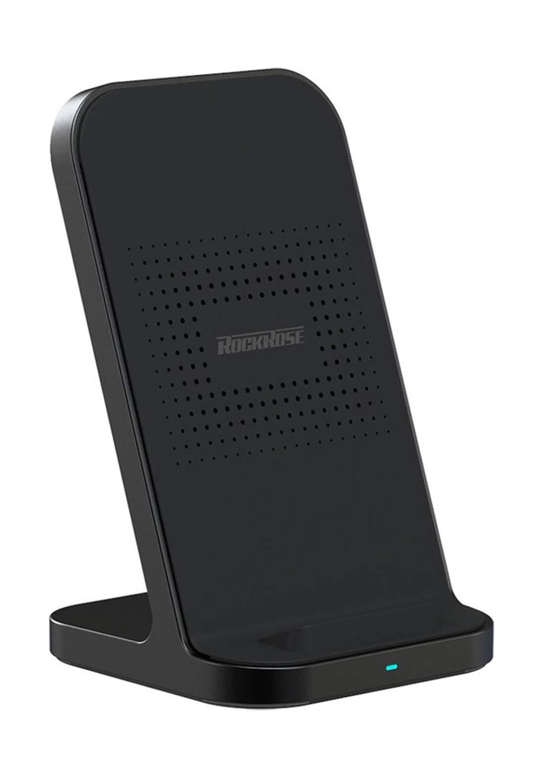 (4137)RockRose RRWC03 Wireless Charger 10W - Black شاحن لا سلكي