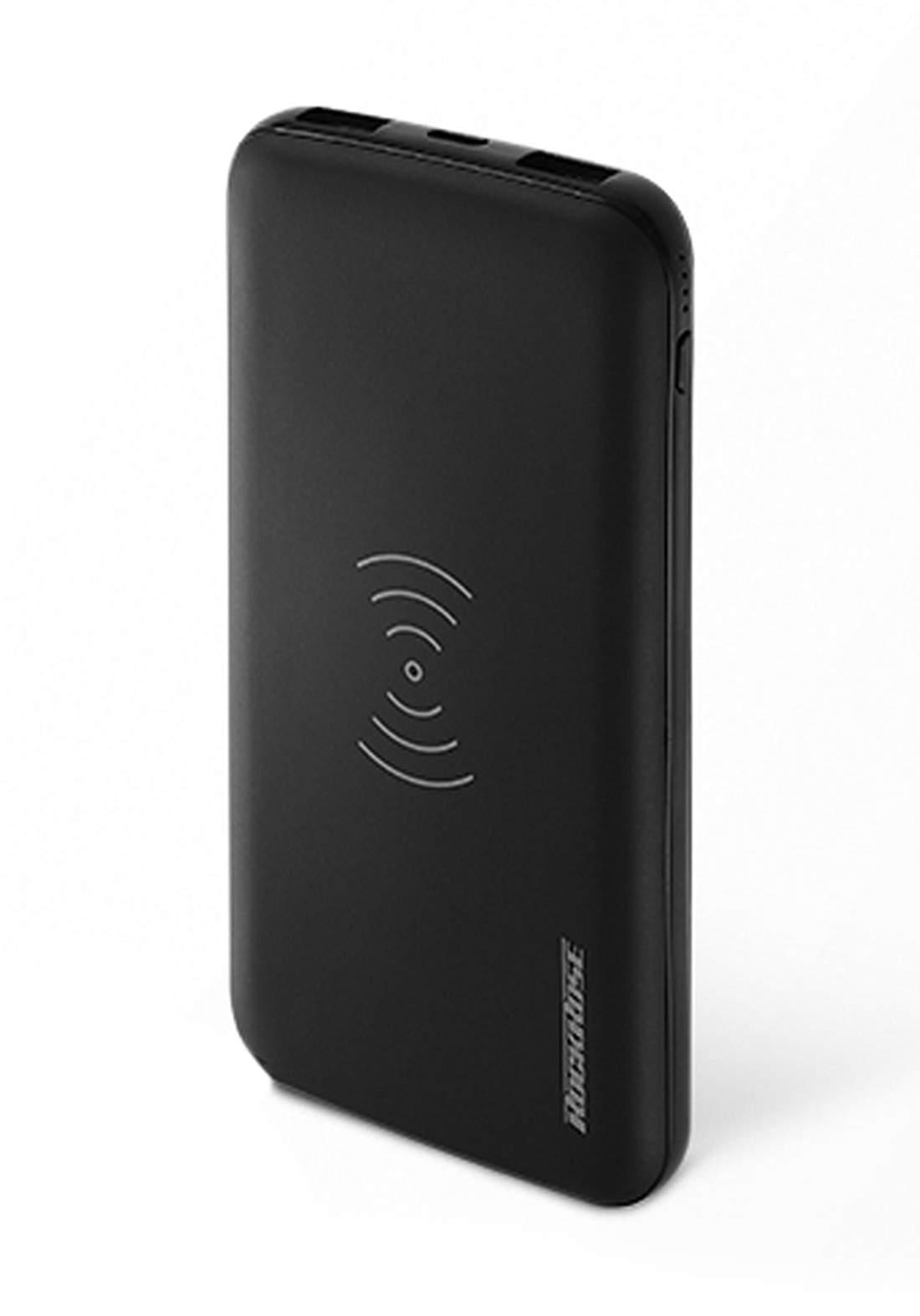 (4041)Rockrose RRPB12 Power Bank RRPB12 Airgo 10 Pro 10000mAh Wireless Charge PD & QC 3.0 - Black