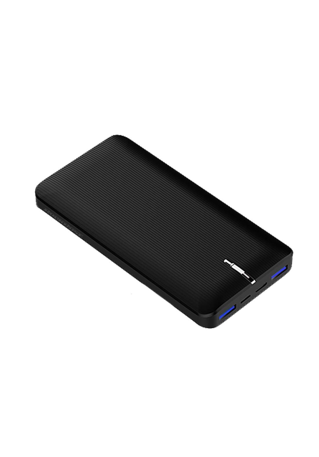 (4044)Rockrose RRPB14B Power Bank Vogue 20 Pro Three Ports 20000mAh PD & QC 3.0 - Black