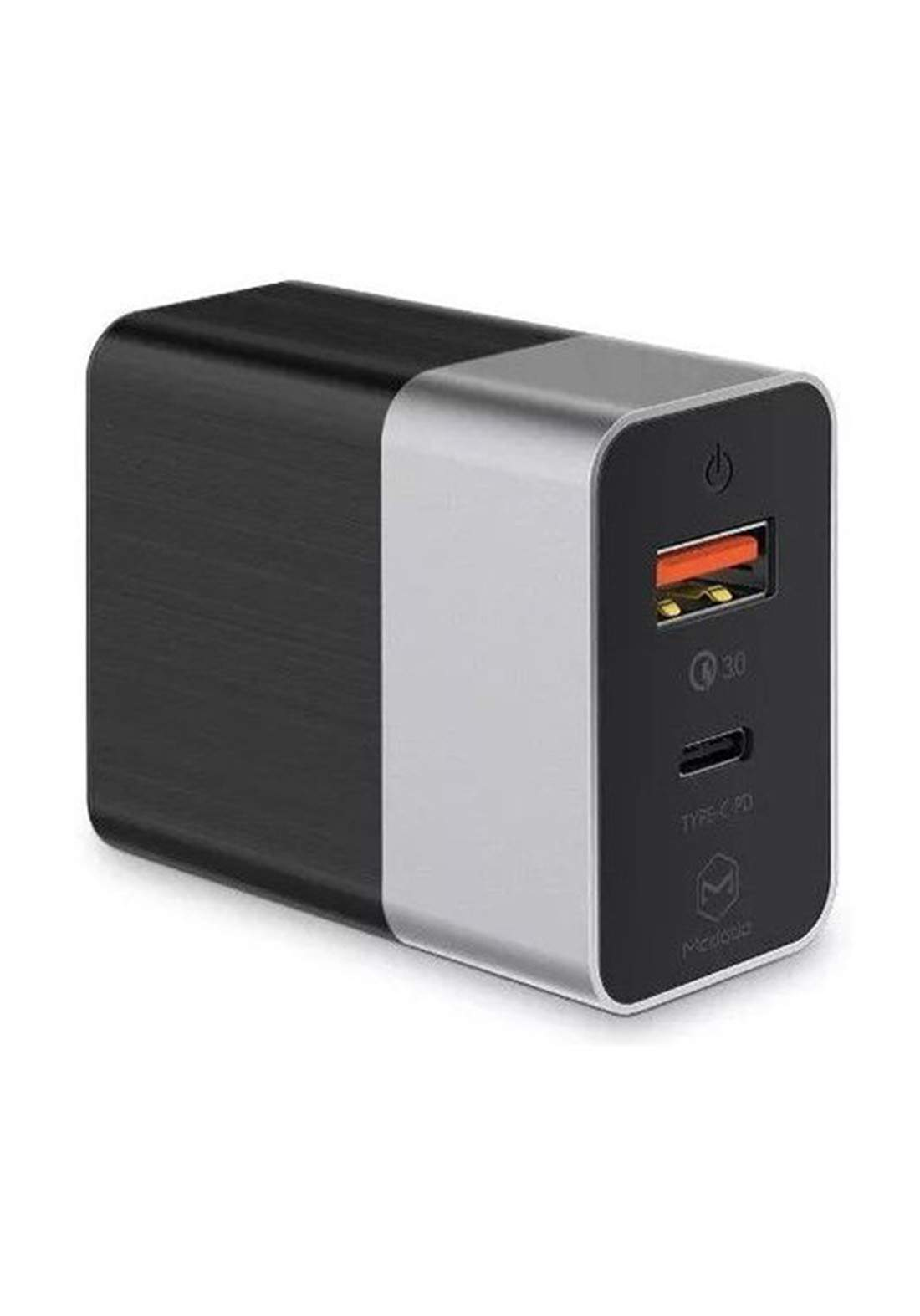 (10951)Mcdodo Ch-5621 Cube Series Pd + Qc 3.0 Charger - Black شاحنة