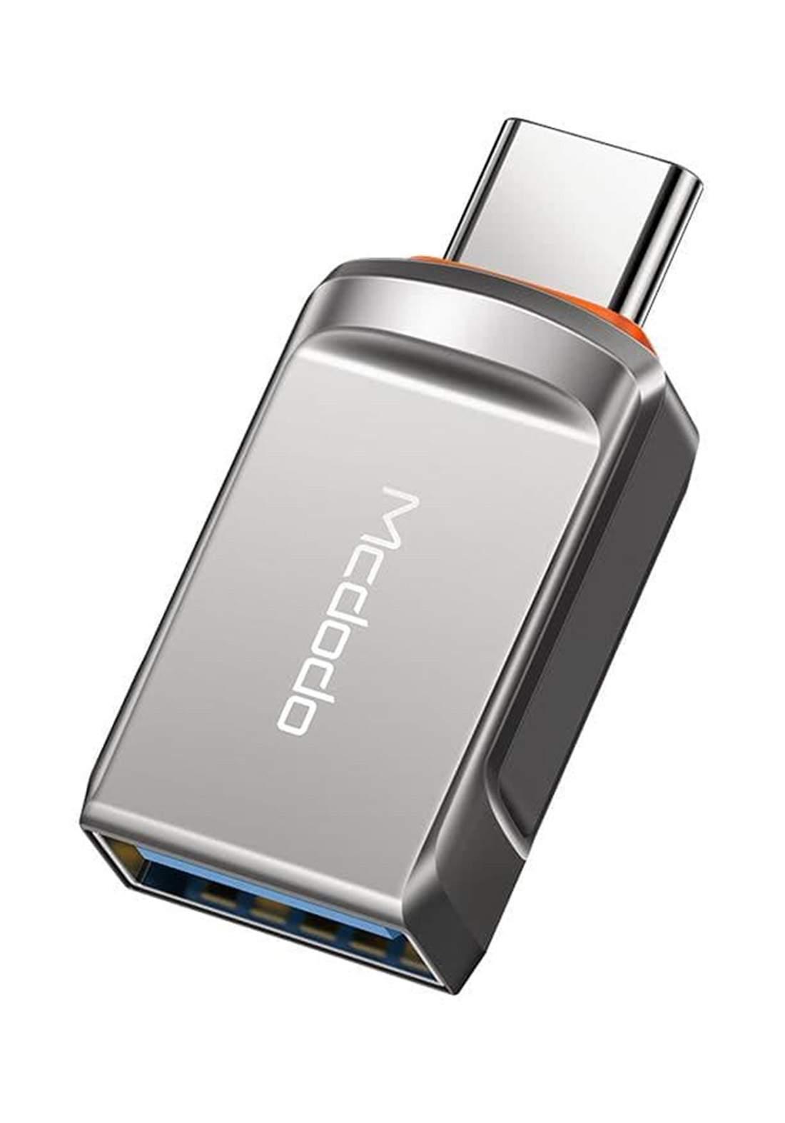 (175709)Mcdodo OT-8730 OTG USB-A 3.0 to Type-C Adapter - Gray