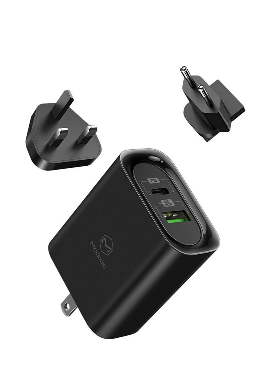 (175707)Mcdodo CH-5601 30W PD Travel Charger PD3.0 QC3.0  - Black شاحنة