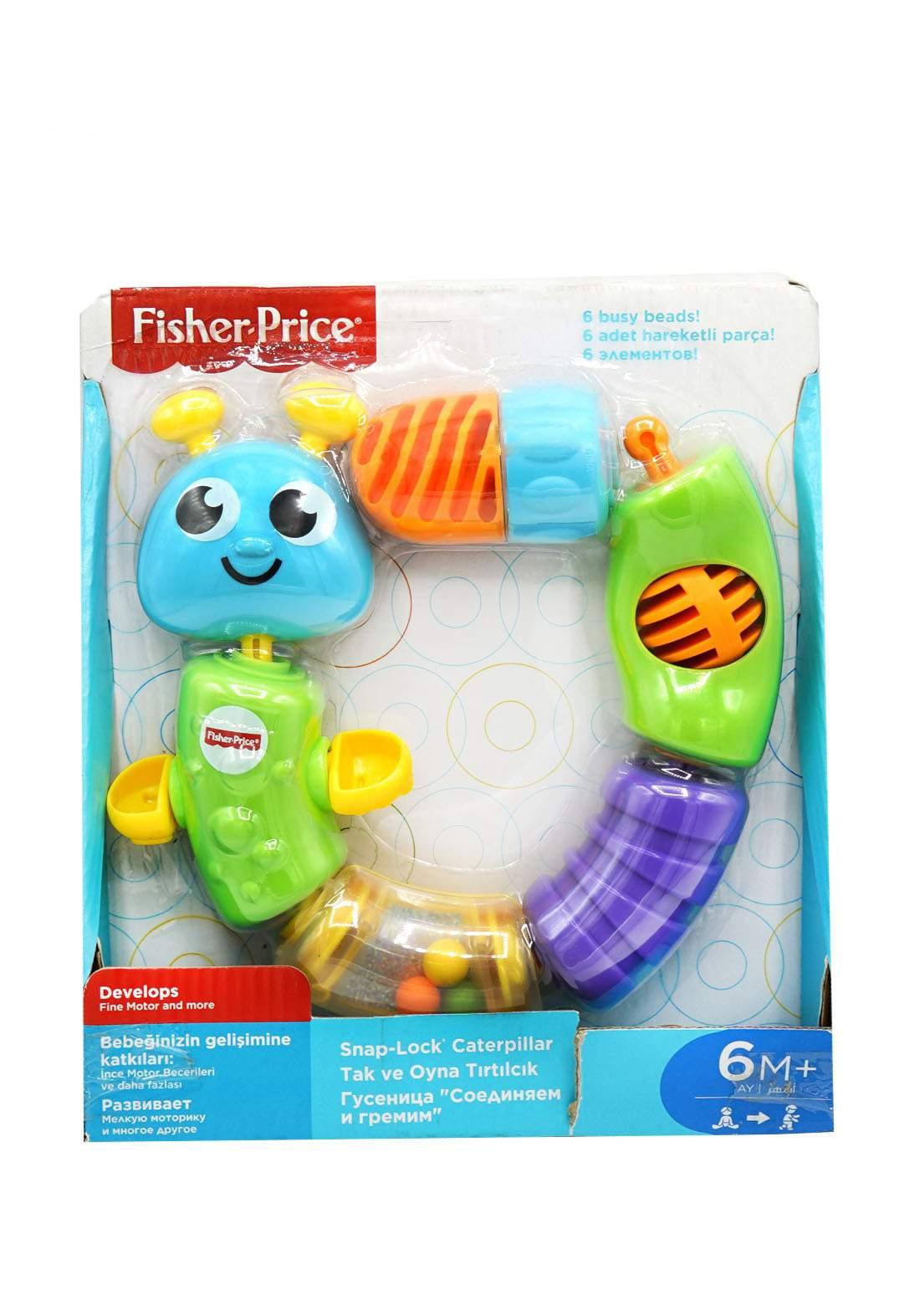 Fisher Price Snap Look Caterpiller +6m لعبة التجميع للأطفال