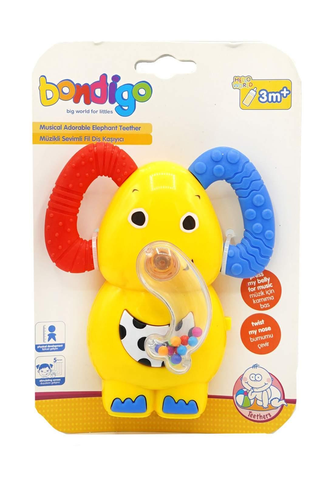 Bondigo Elephant Teether with Music +3M  عضاضة أطفال مع موسيقى