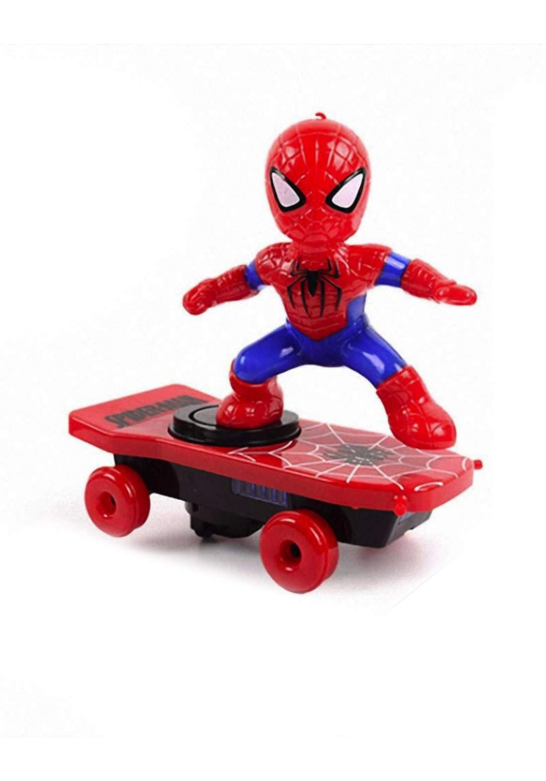 Marvel Spider Man Toy With Skateboard لعبة رجل العنكبوت للأطفال