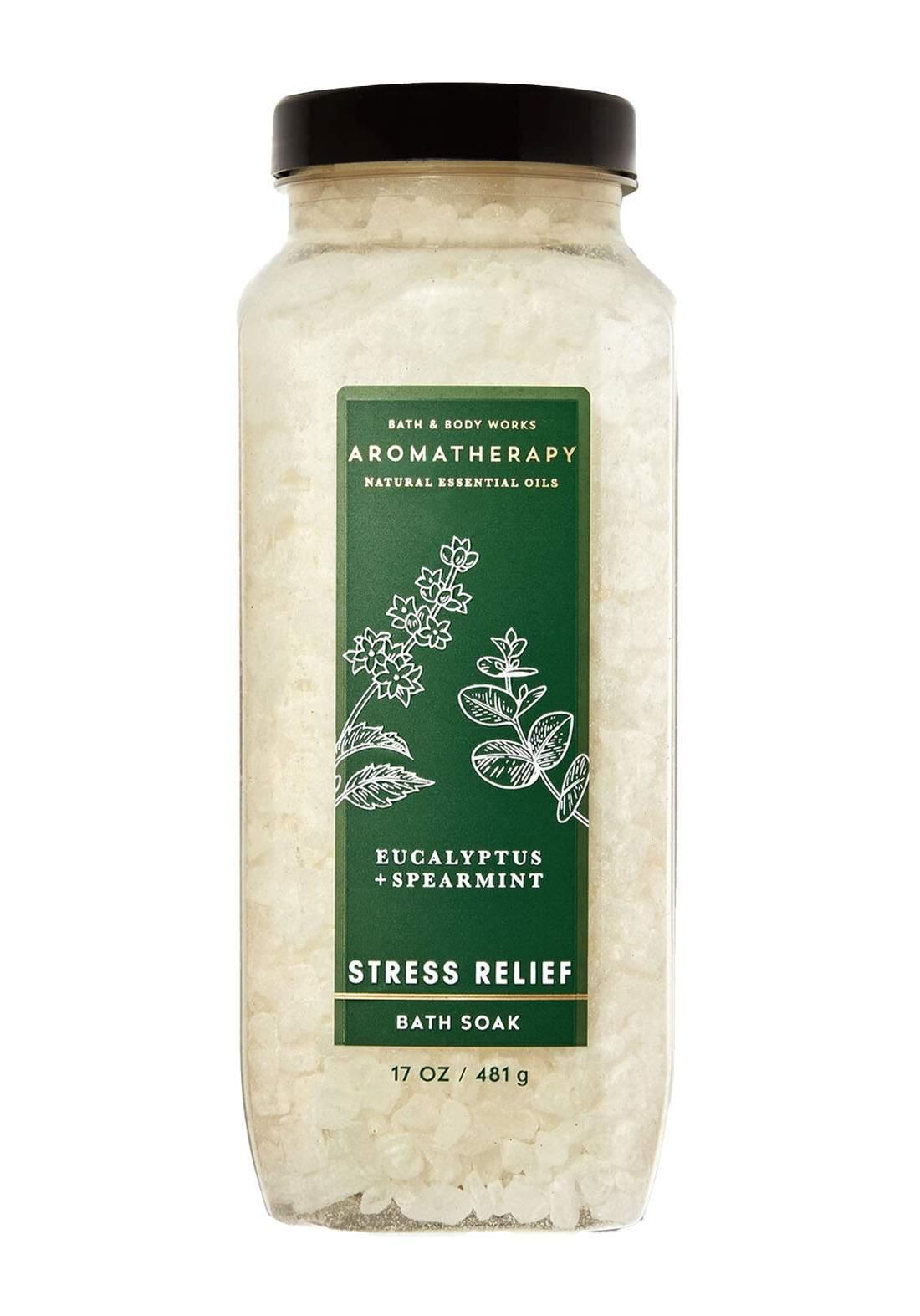 Bath And Body Works Aromatherapy Stress Relief Eucalyptus Spearmint Bath Soak 481g املاح الاستحمام