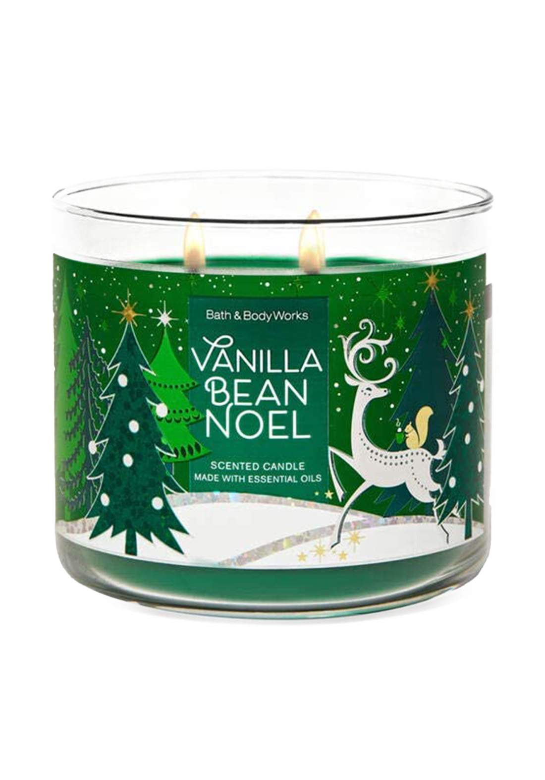 Bath And Body Works Vanlla Bean Nobe 3-Wick Candle 411g  شمعة عطرية