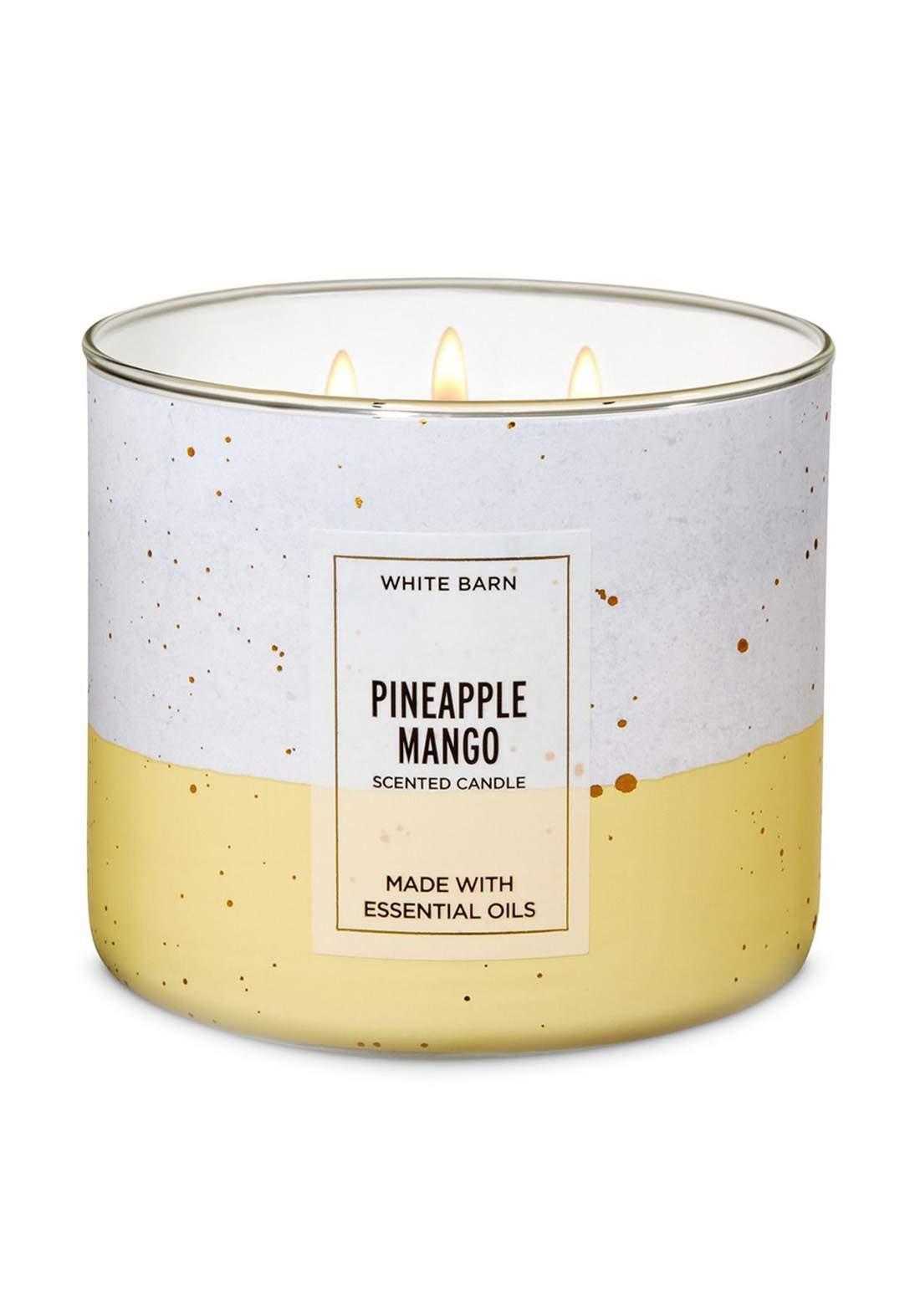 Bath And Body Works Pineapple Mango 3-Wick Candle 411g  شمعة عطرية