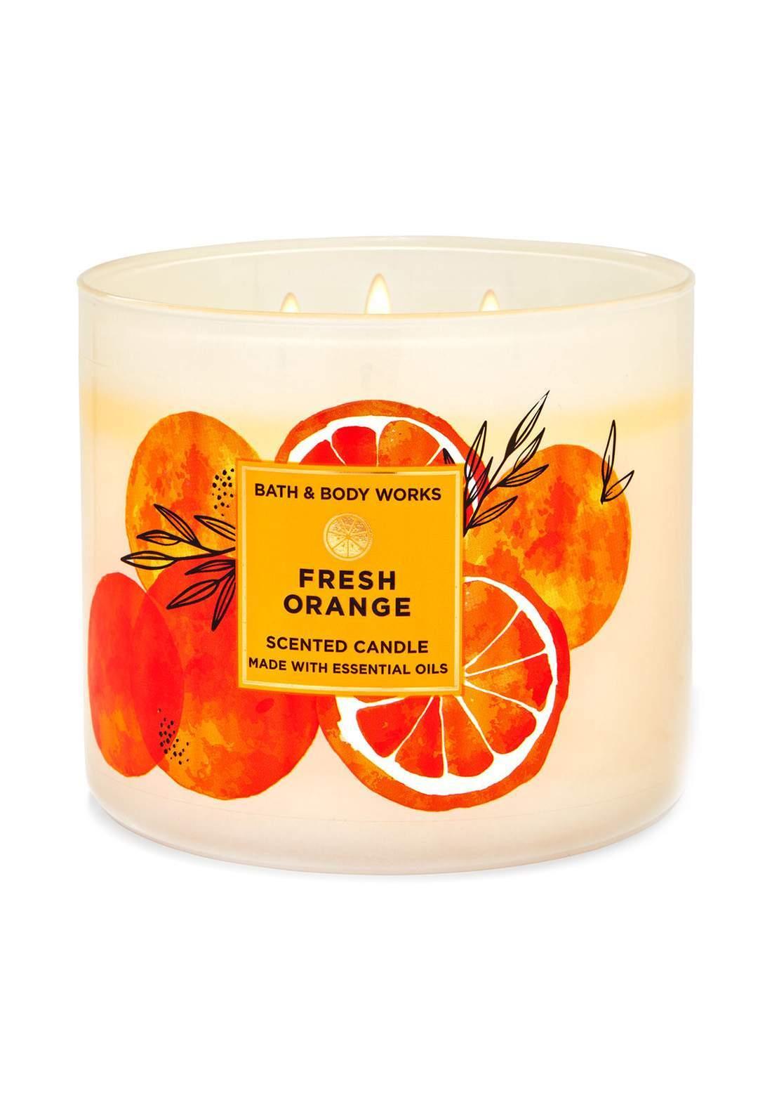 Bath And Body Works Fresh Orange 3-Wick Candle 411g  شمعة عطرية