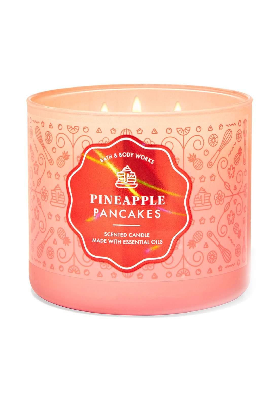 Bath And Body Works Pineapple Pancakes 3-Wick Candle 411g  شمعة عطرية