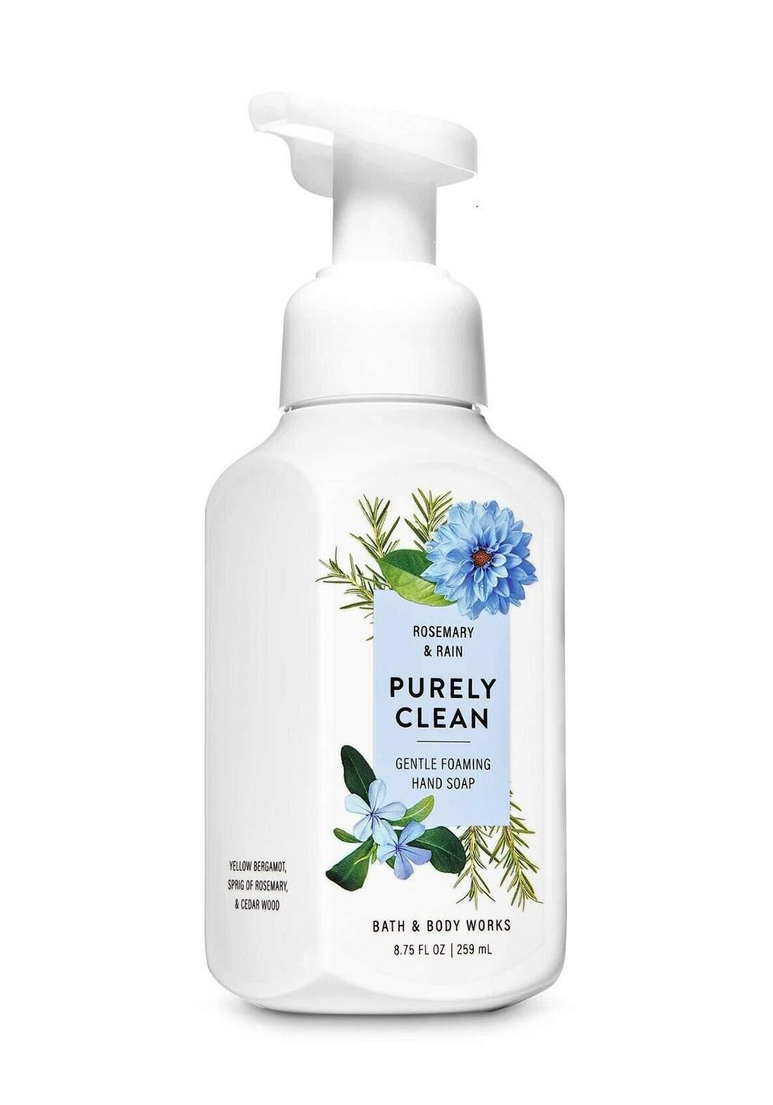 Bath & Body Works White Barn Purely Clean Rosemary and Rain Gentle Foaming Hand Soap 259ml صابون رغوة لليدين