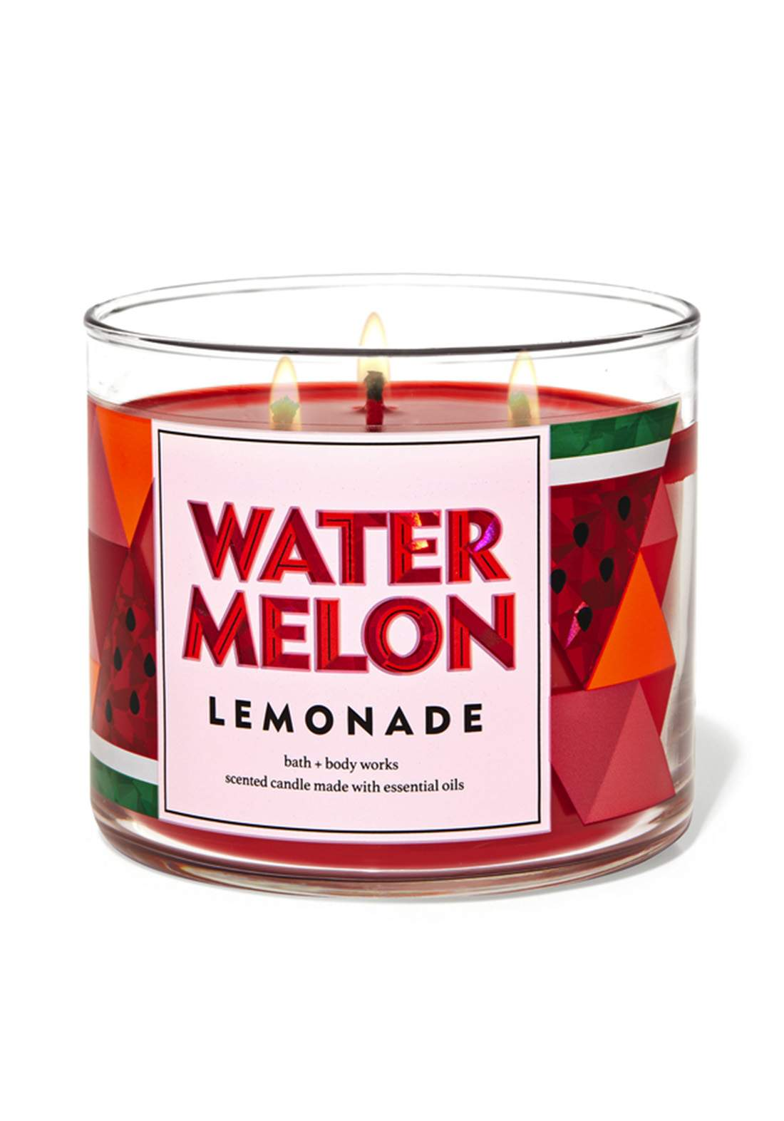 Bath & Body Works Watermelon Lemonade 3-Wick Candle 411gm شمعة معطرة