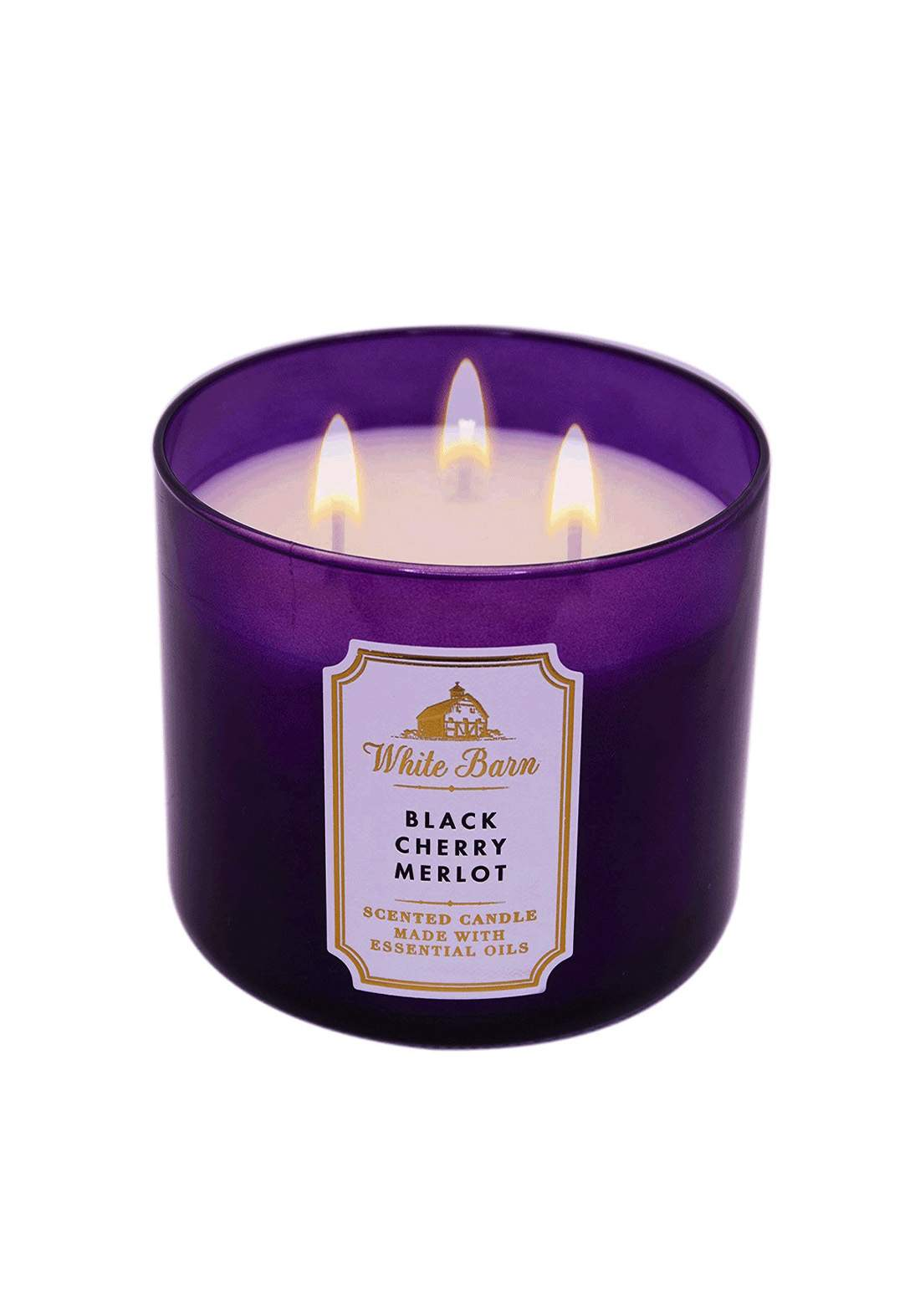 Bath & Body Works Black Cherry Merlot 3-Wick Candle 411gm شمعة معطرة