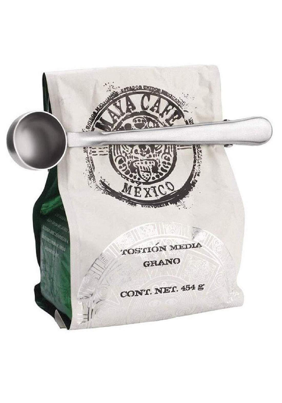 مغرافة وكابسة كيس القهوة والشاي - اثنان في واحد - متعددة الالوان