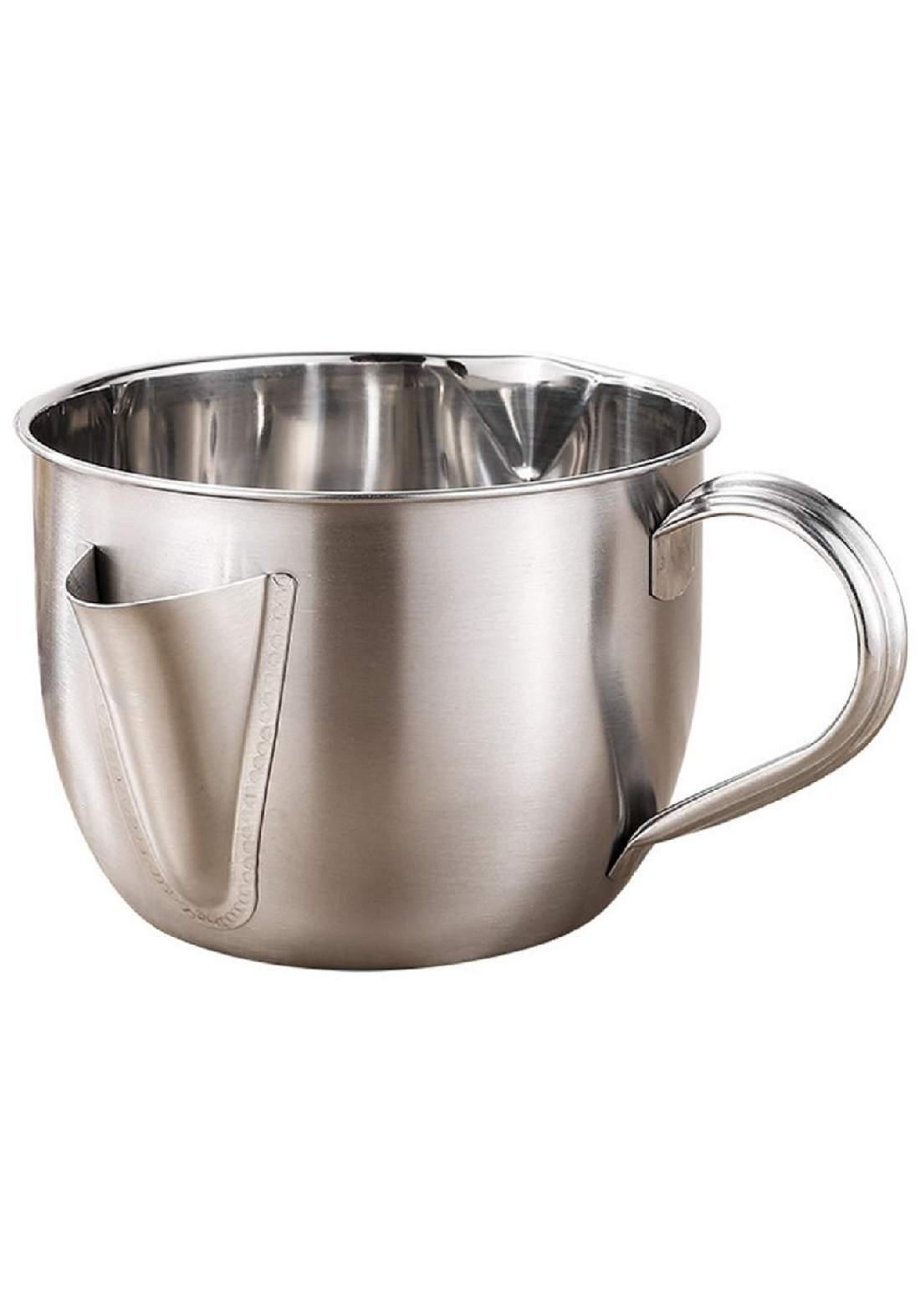 قدر فصل الدهون عن الحساء حجم (1000) مل مع غطاء وفرشة تنظيف