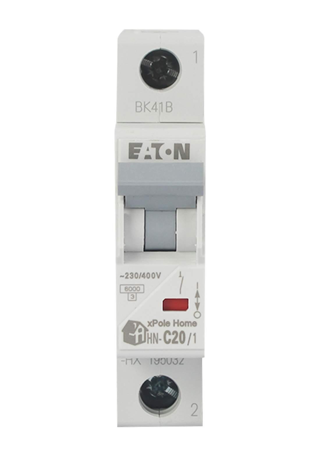 Eaton HN-C20/1-HX Circuit Breaker 20A قاطع تيار الكهرباء (جوزة)