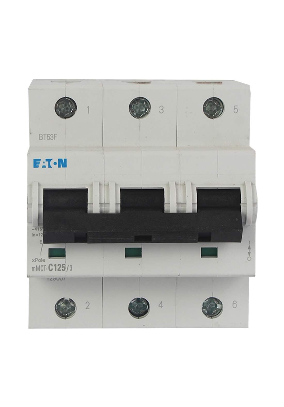 Eaton MCT - C125/3 Circuit Breaker 125A قاطع تيار الكهرباء ثلاثي (جوزة)