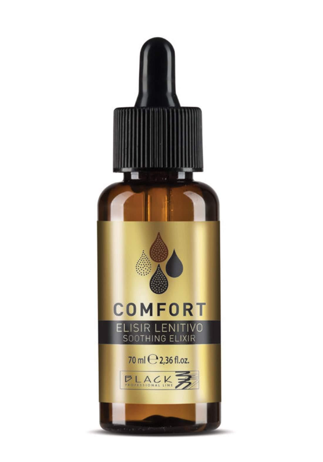 Black Professional Comfort Soothing Dermo Protective Elixir Serum 70ml سيروم العناية