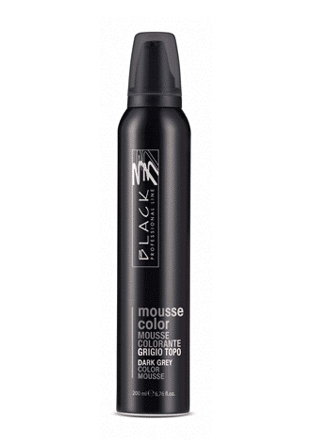 Black Mousse Color Protective Coloring 200ml Dark Grey  موس حماية اللون