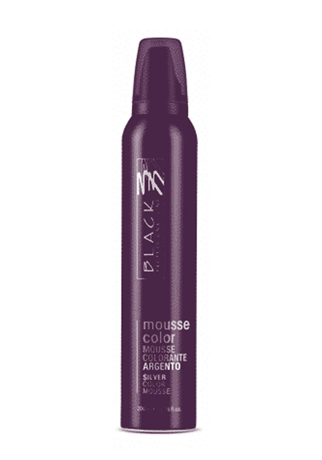 Black Mousse Color Protective Coloring 200ml Silver  موس حماية اللون