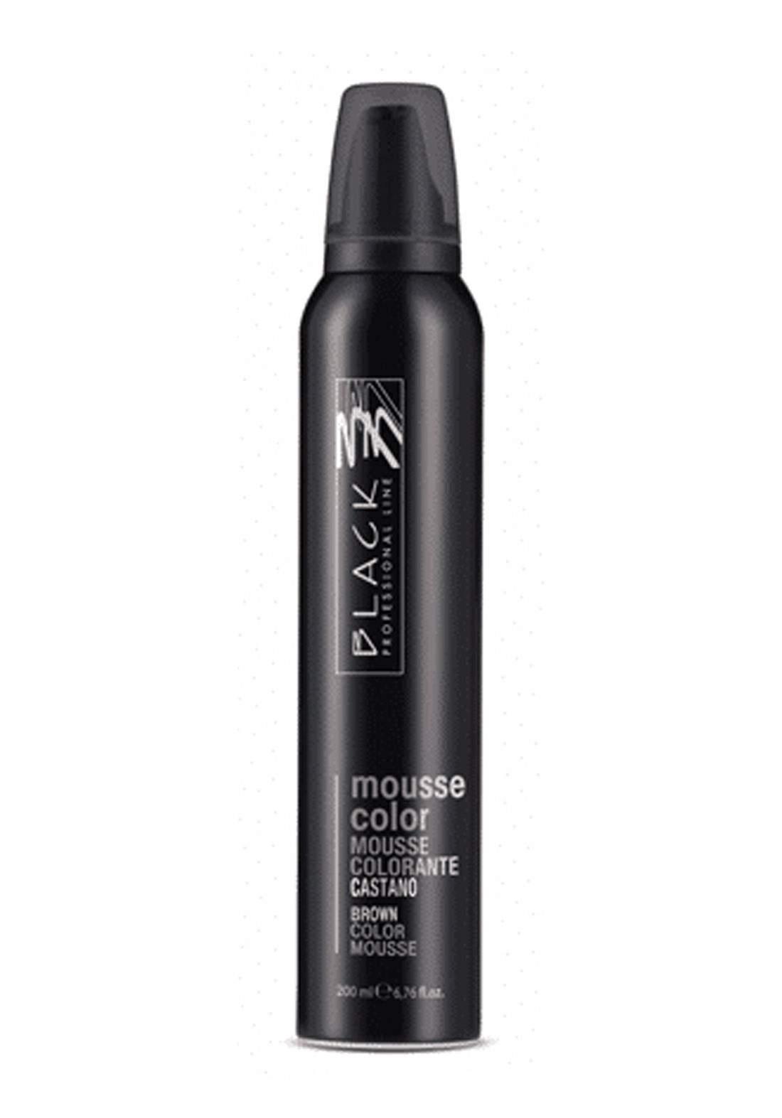 Black Mousse Color Protective Coloring 200ml Brown  موس حماية اللون