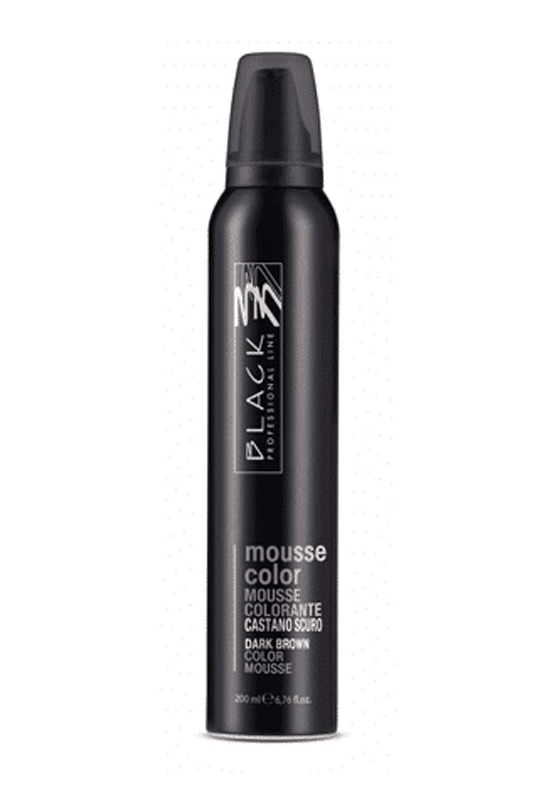Black Mousse Color Protective Coloring 200ml Dark Brown  موس حماية اللون