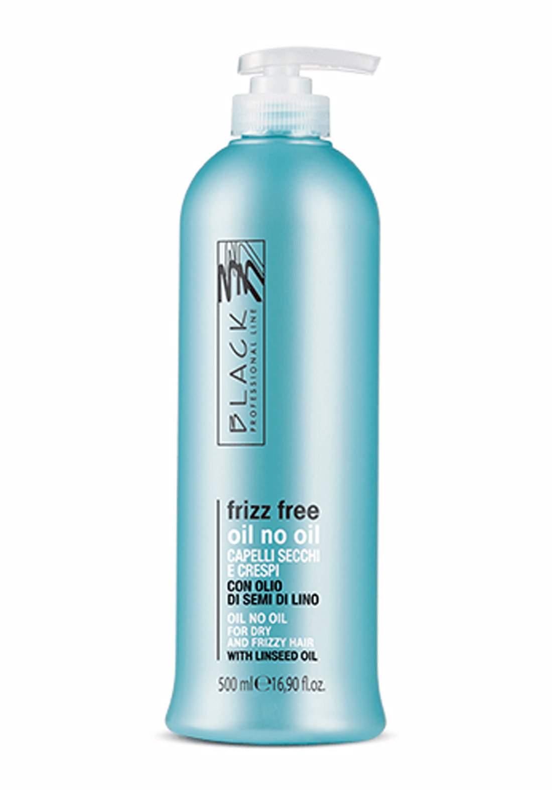 Black Professional Anti-Frizz Oil No Oil For Dry And Frizzy Hair 500ml زيت مضاد للتجعد