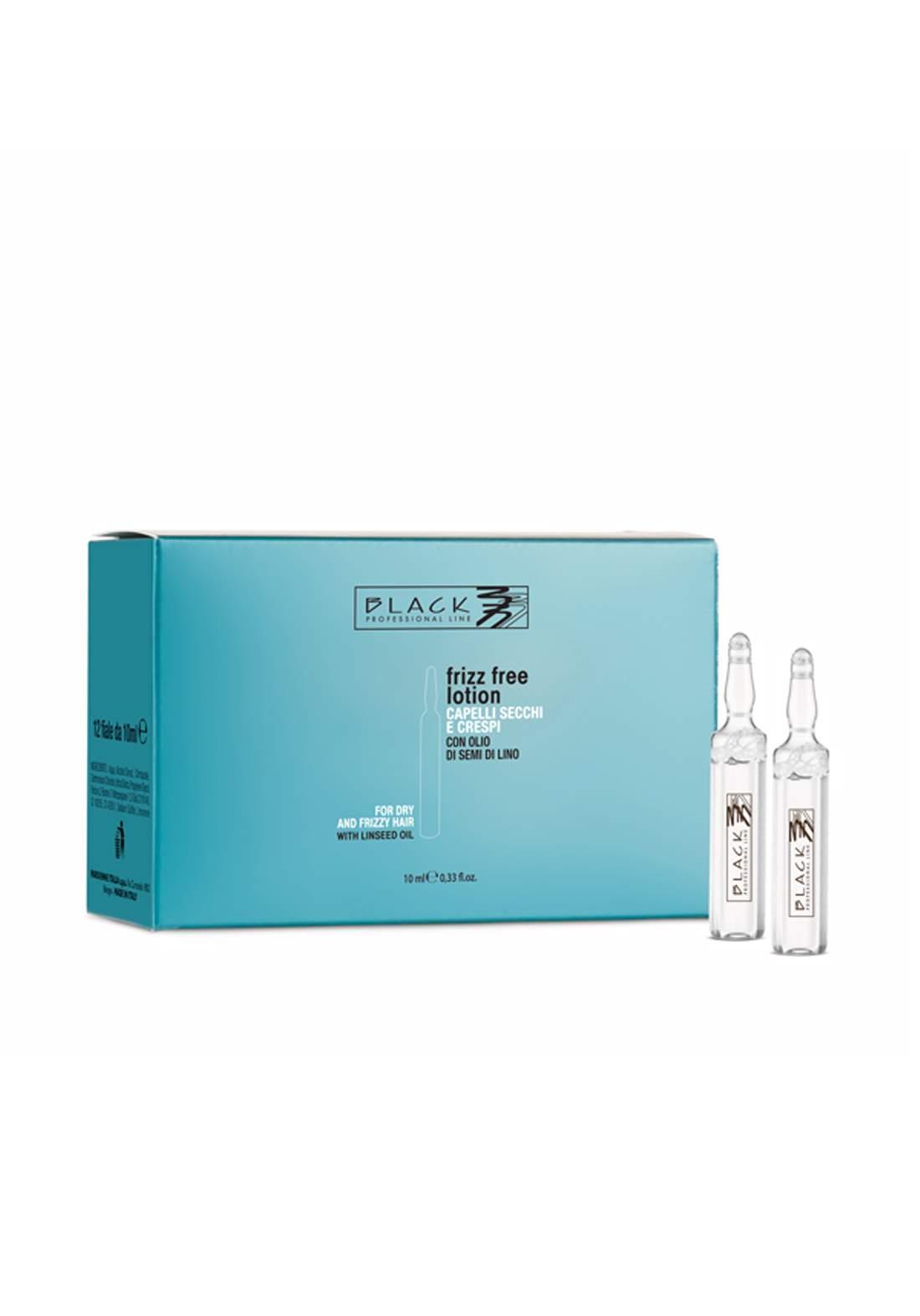 Black Anti-Frizz Ampoules 12 X  10ml امبولات شعر ضد التجعد